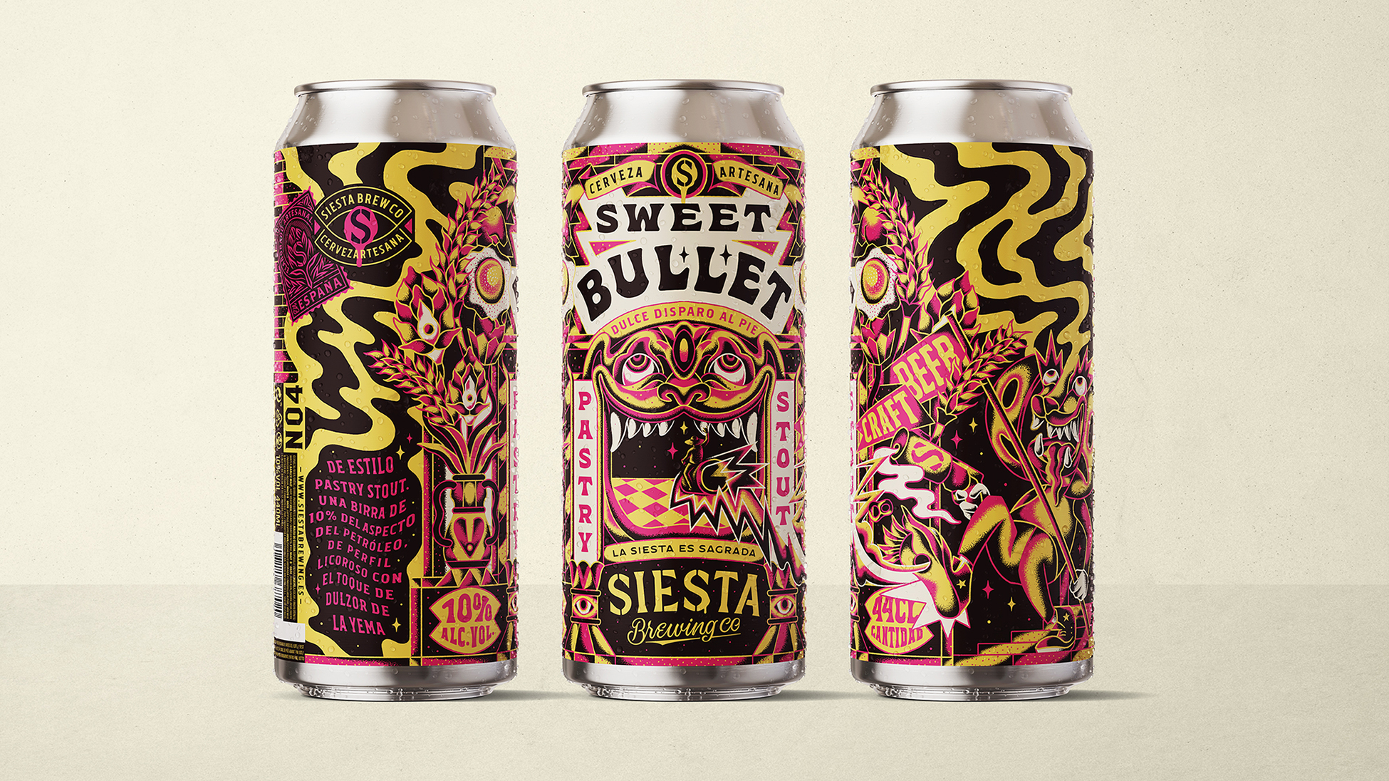 Sweet Bullet for Siesta Brewing Co by Luis Utrillas