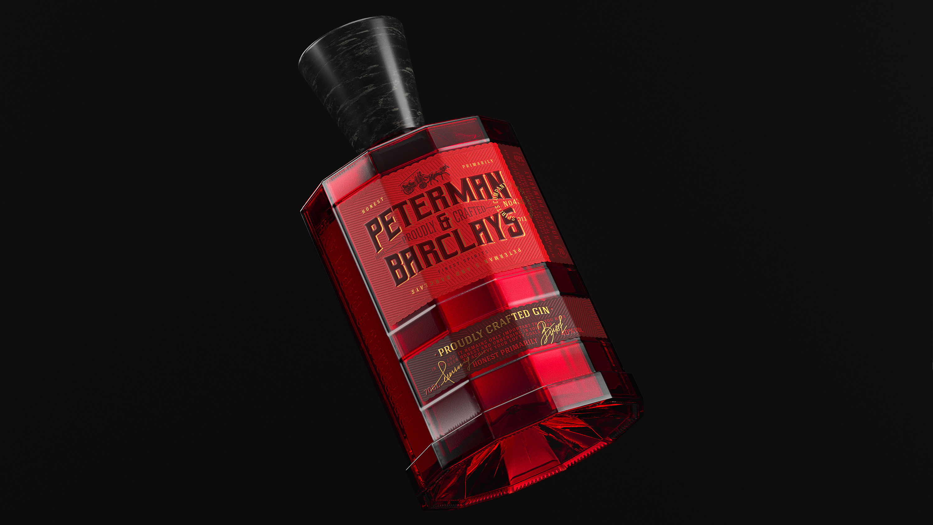Concept Premium Old-Fashioned Gin Design by ZNAKOVY