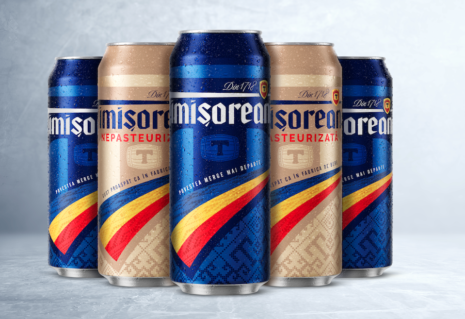 Nude Brand Creation Develops New Packaging for Beer Brand Timisoreana