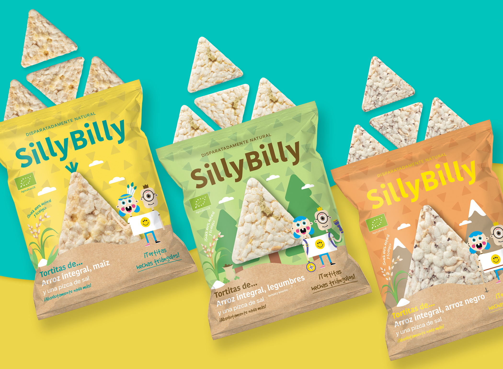 Mara Design Creates New Packaging for SillyBilly Rice Snacks