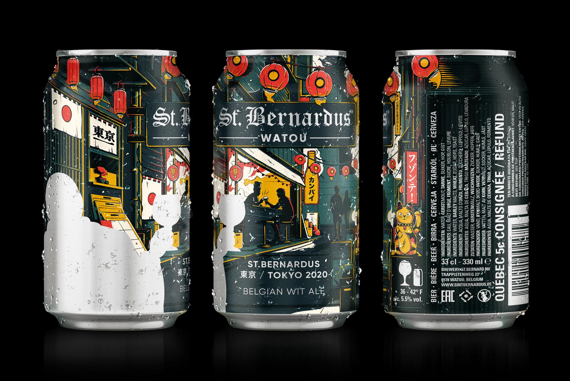 St. Bernardus Tokyo Beer Can Illustration