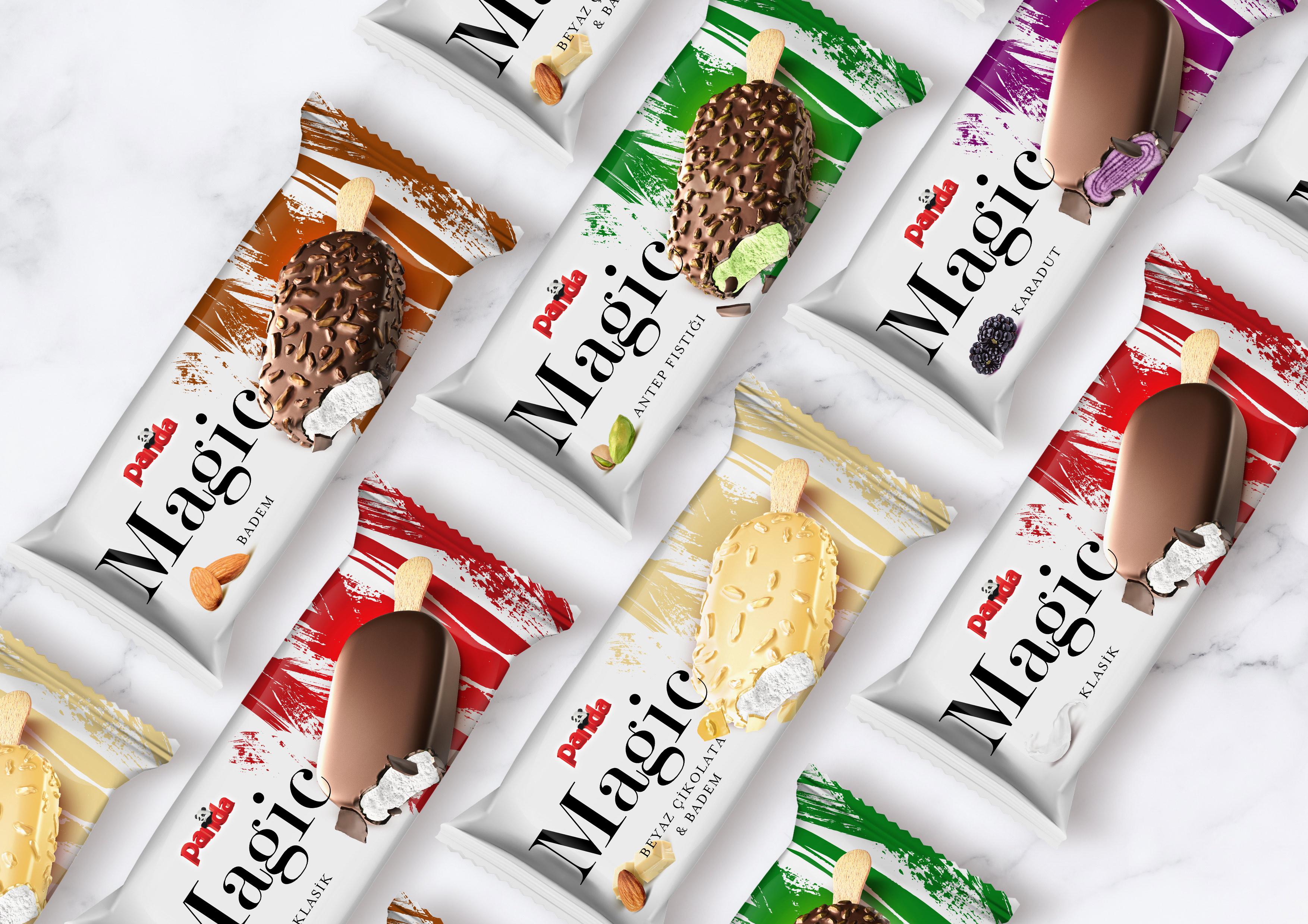 B12 Creative Branding Refresh the Packaging Design of Panda Magic Premium Ice Cream