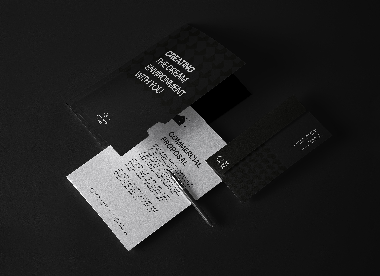 Corporate Identity for Unity Custom Builders by Leo Tavares Design