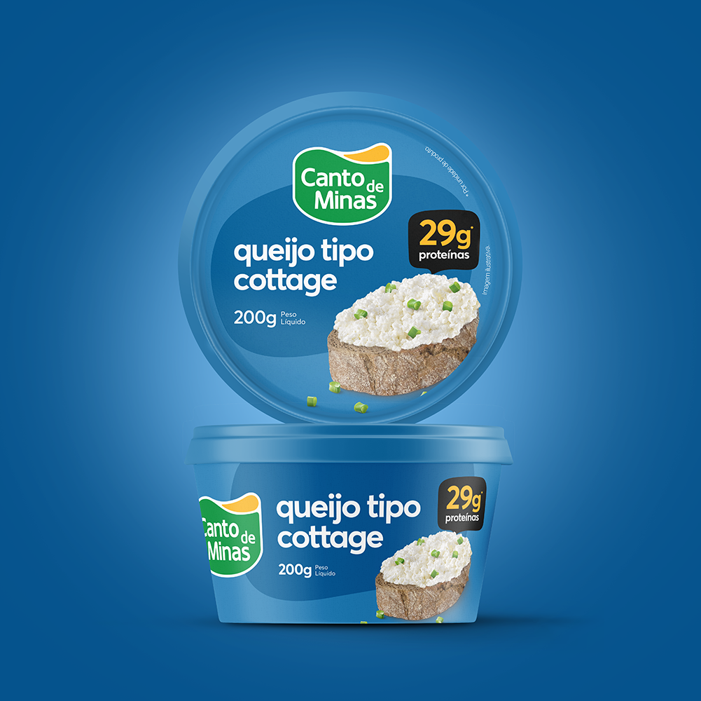 vbiasi design Creates a New Look to a Cottage Cheese for Dairy Milk Producer in Brazil