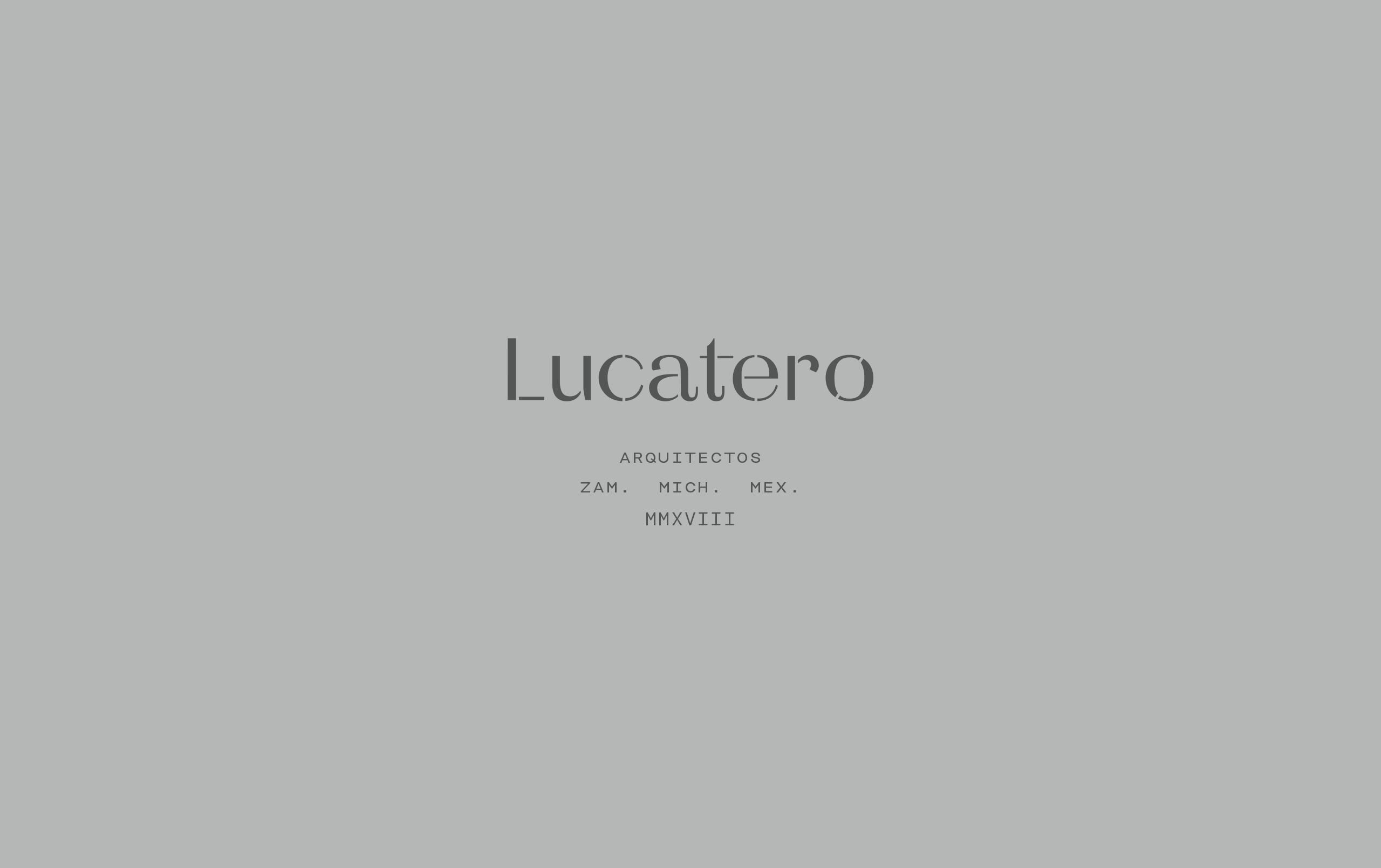 Brand Identity for Lucatero Architecture Studio by Treceveinte