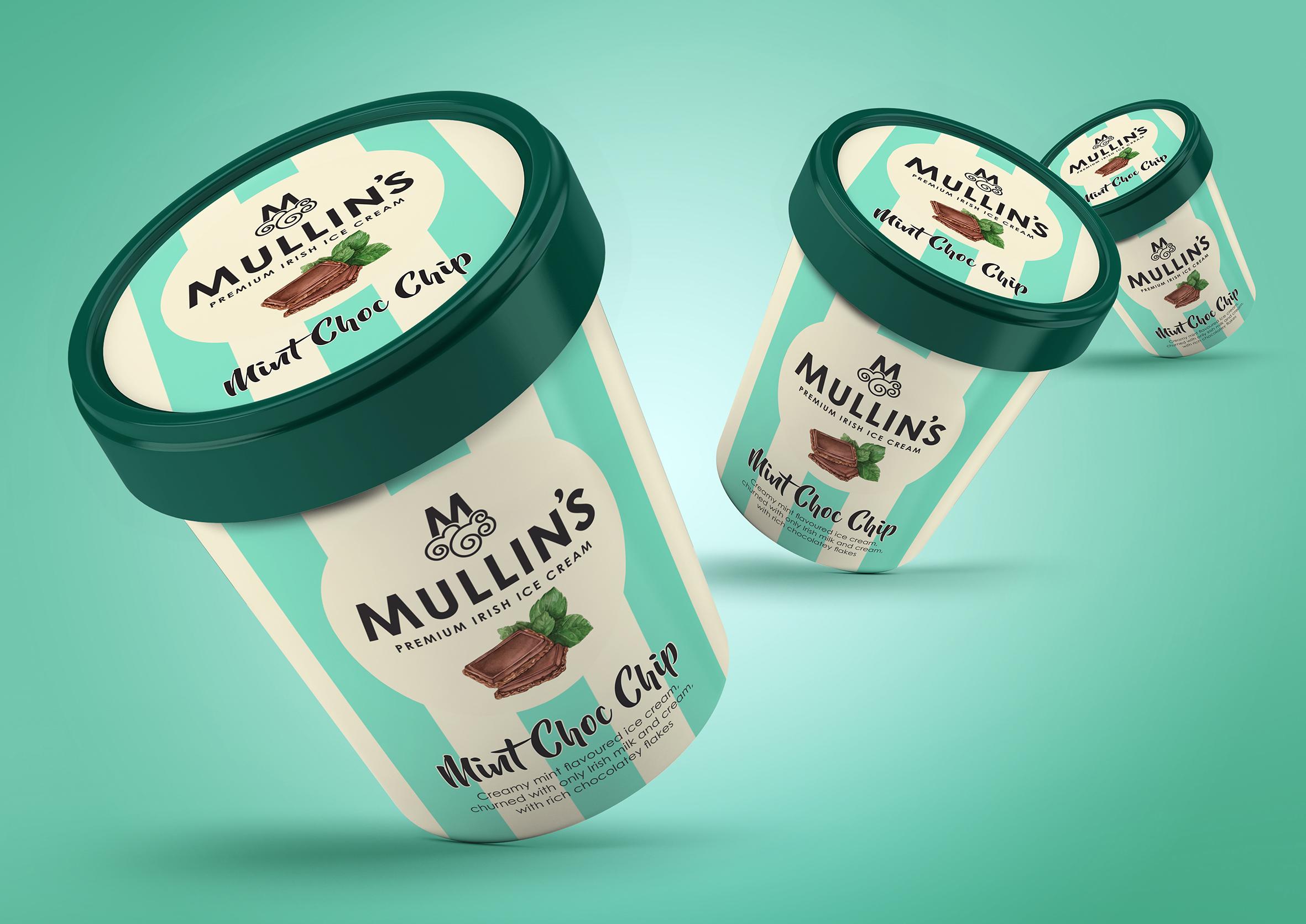 Simon Pendry Creative Redesign Mullin's Irish Ice Cream