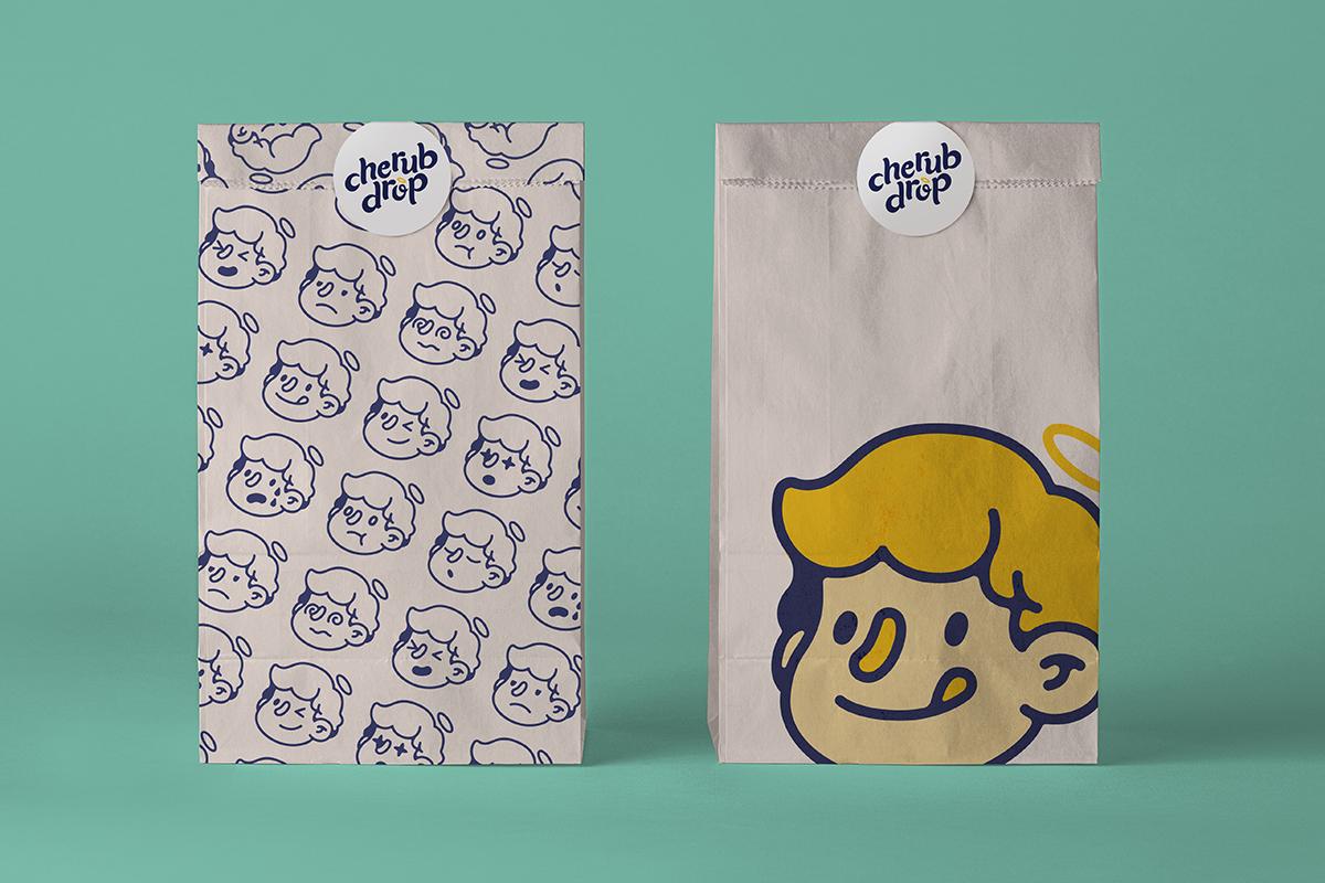 Student Concept Identity Design Work for Startup Cherub Drop