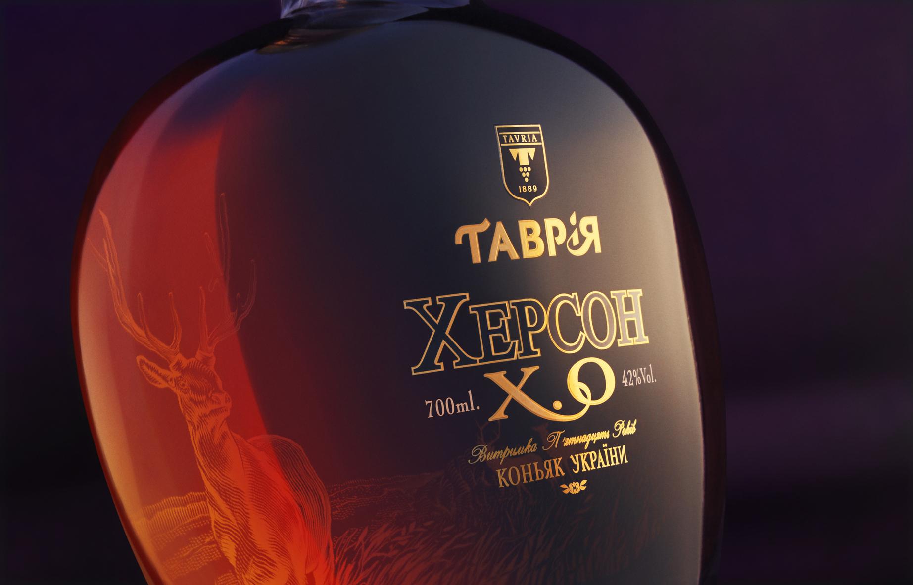 Krylia FMCG Branding Design Collector's Ukrainian Brandy Kherson 15 Year Old
