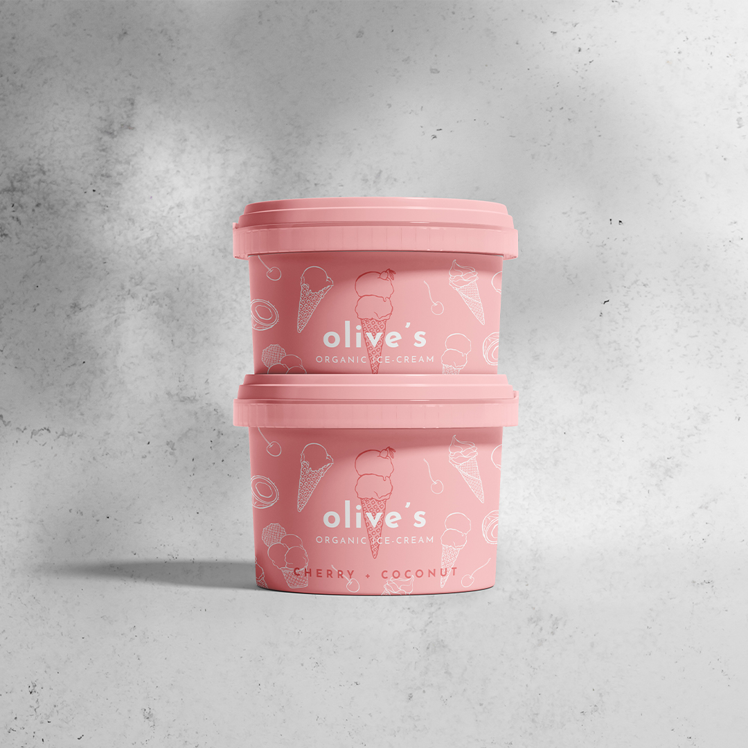 Karolina Król Studio Brand Identity for a Playful Olive's Organic Ice-Cream
