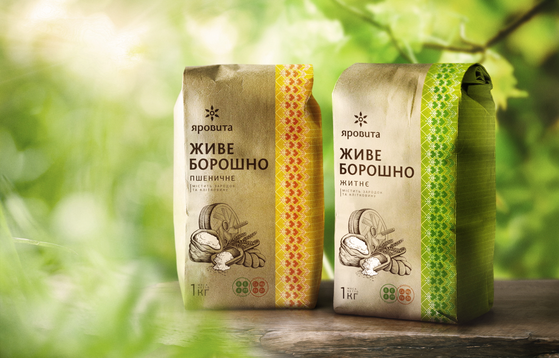 Krylia FMCG Branding Create Identity and Packaging Design for Ukrainian Authentic Wholegrain Flour Yarovita