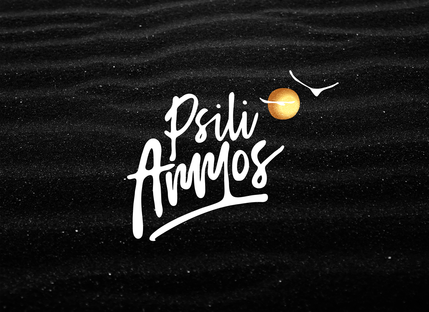 Euge Design Studio Create Logo and Design Identity for Psili Ammos Resorts and Beach Bar