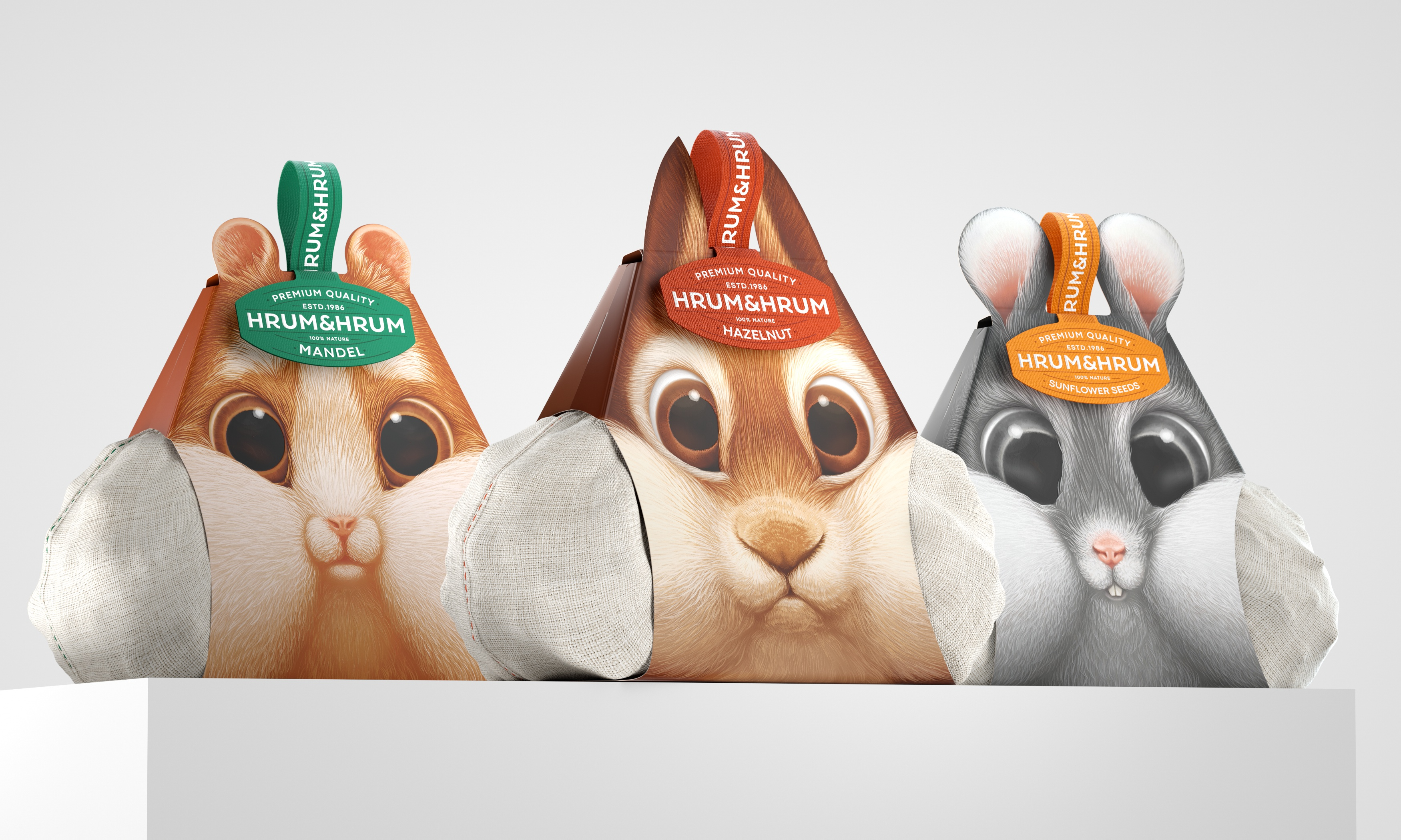 Nuts and Seed Concept Packaging Designed by Constantin Bolimond