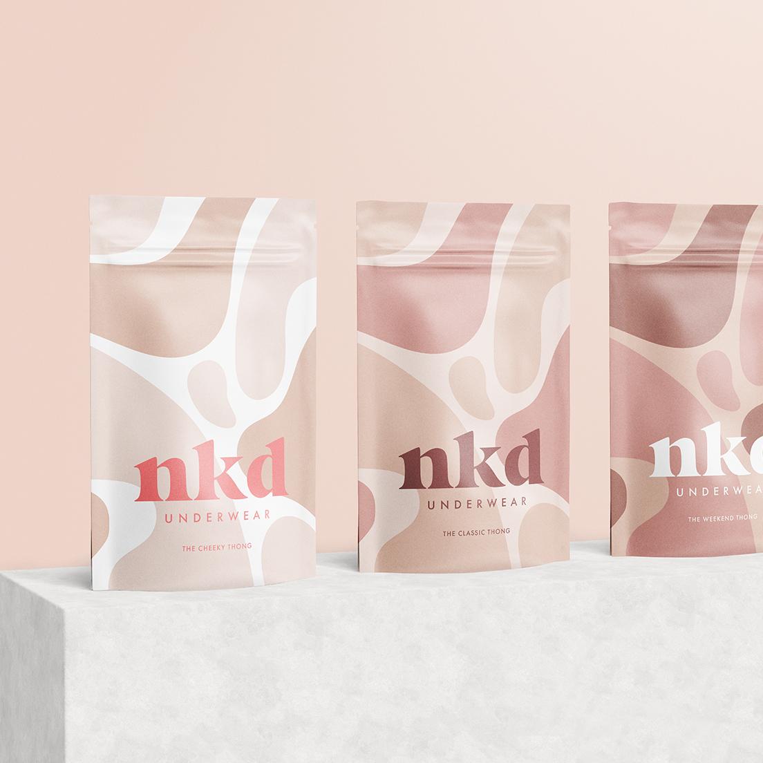 Alexandra Necula Studio Designs NKD Underwear Branding and Packaging