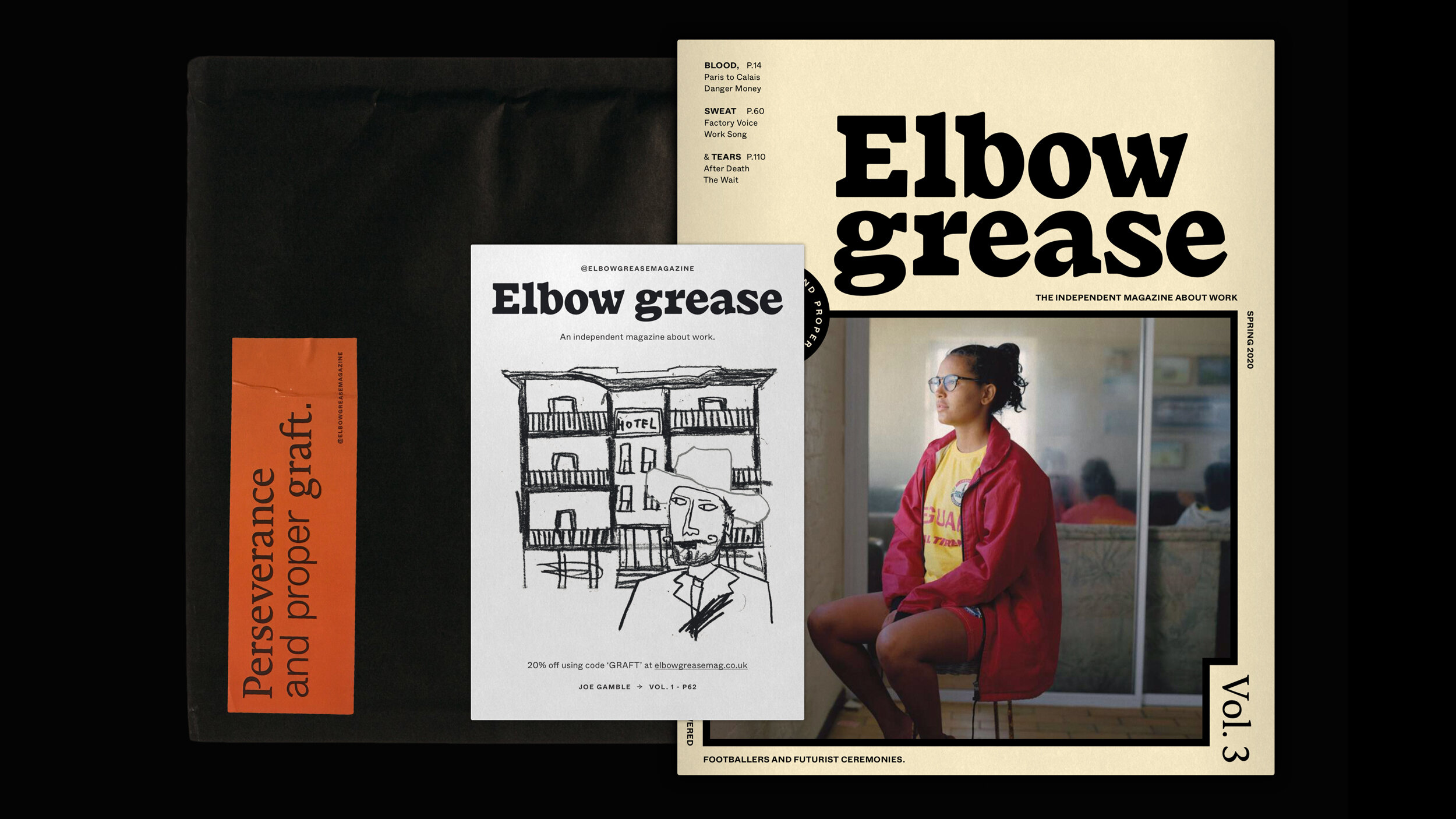 Indie Publication, Elbow Grease, Gets a suitably Hand-Crafted Rebrand by Tom Sydenham