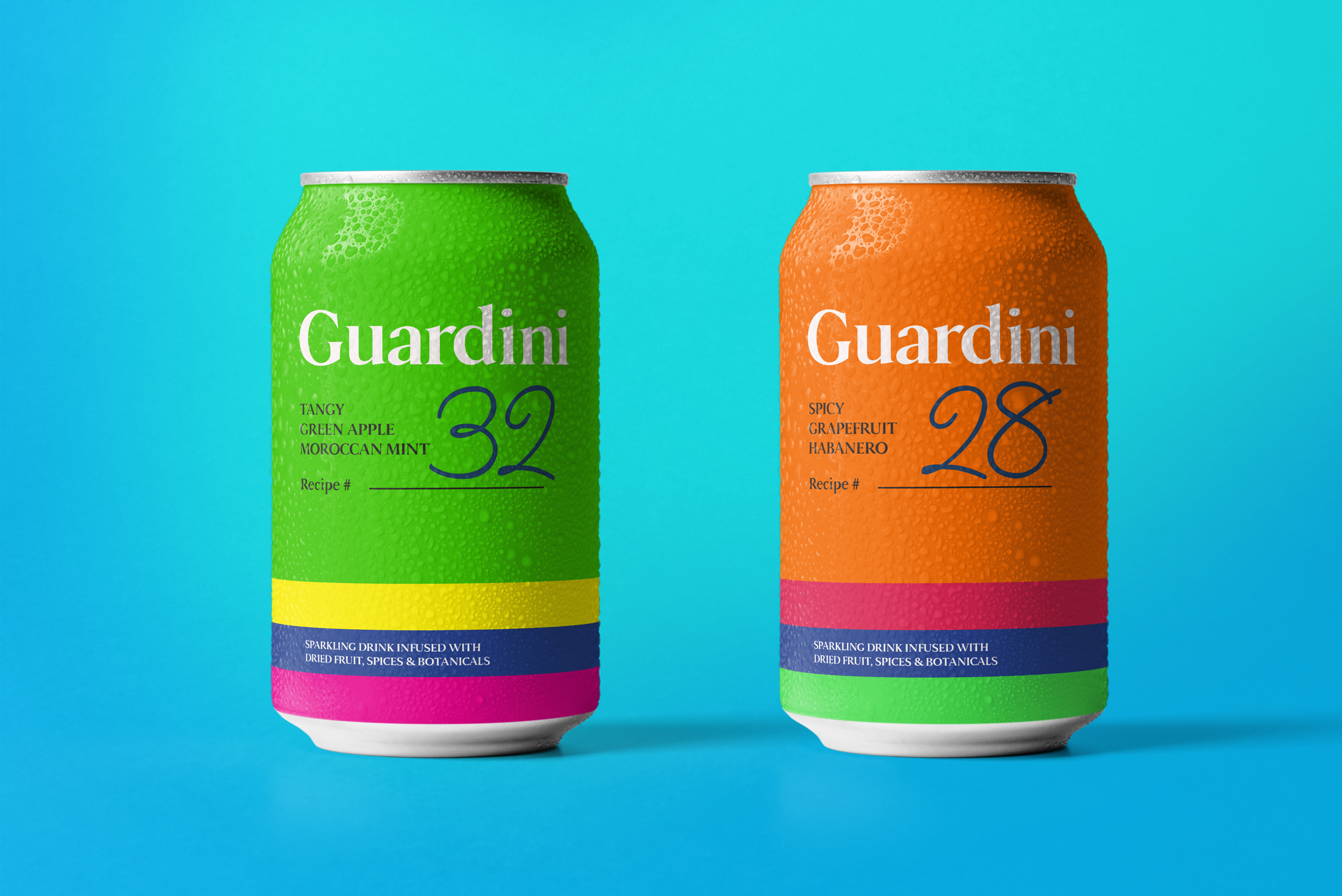 Guardini Cocktail Mixers Packaging Design Created by Firstbase