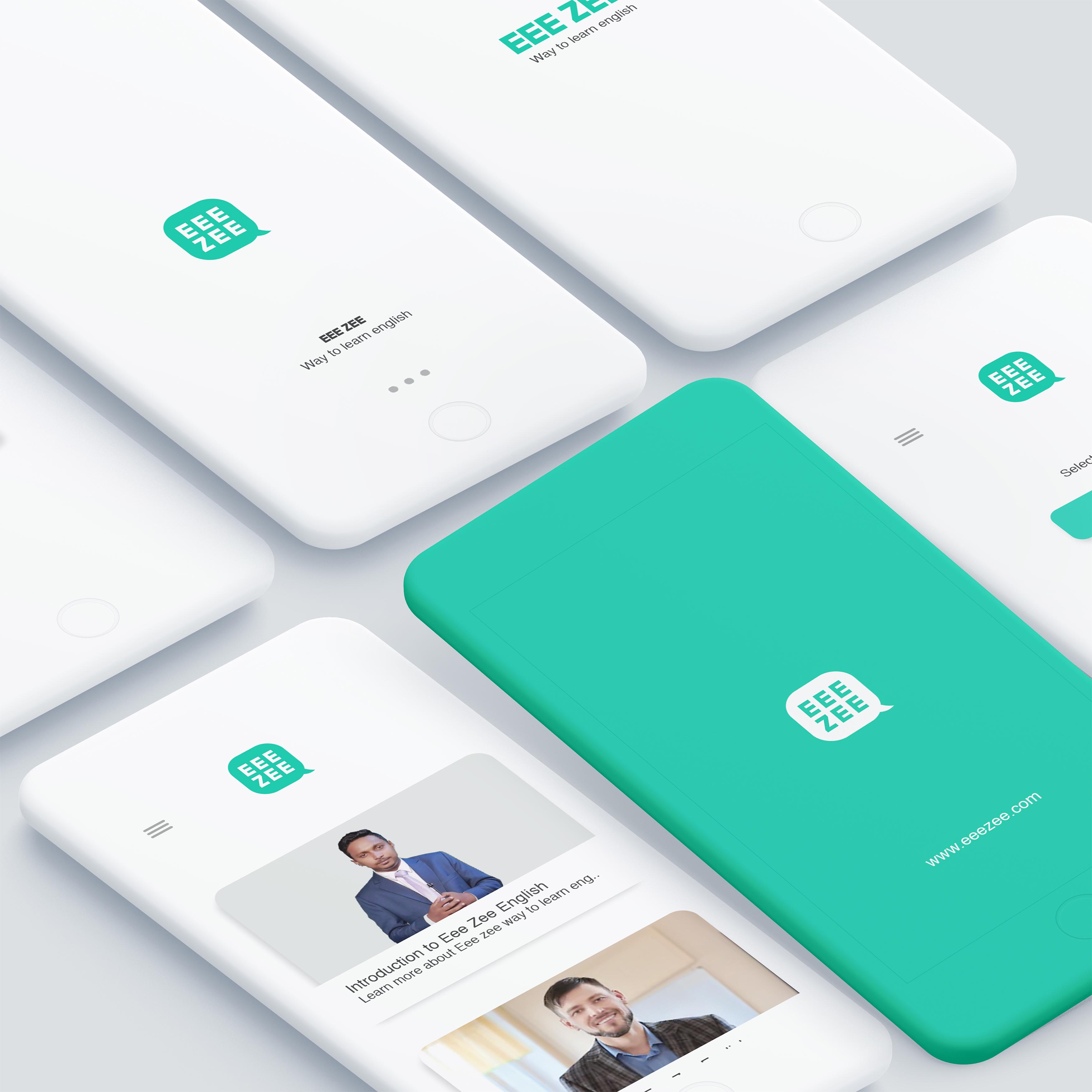 Identity Design and Branding For Eee Zee English Learning App