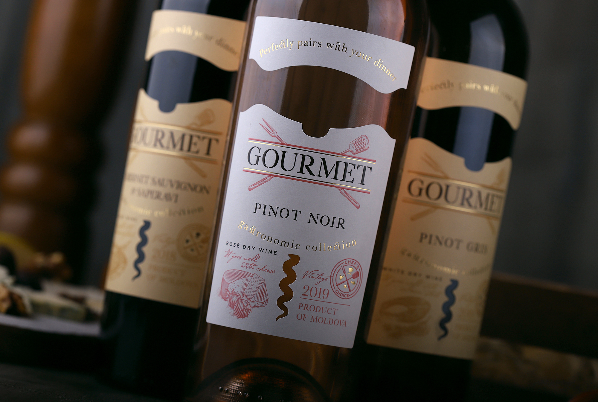 Redesign Gourmet Gastronomic Wine Collection