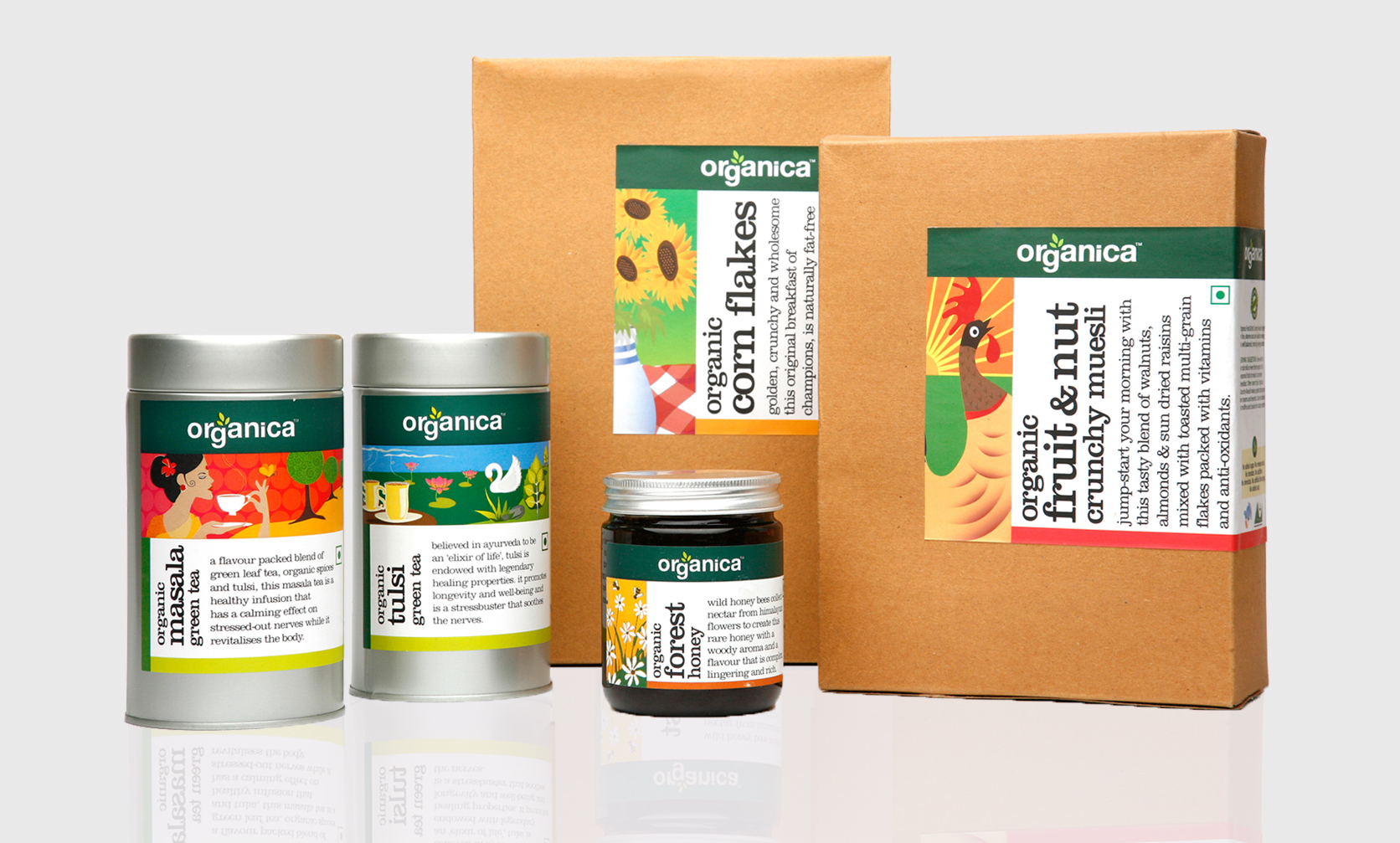 Packaging Design for Organica Foods Designed by GCD Studio