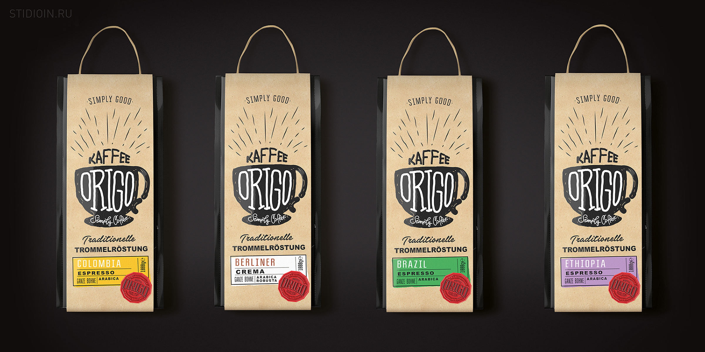 Origo Simply Coffee Brand Identity and Packaging Design by STUDIOIN