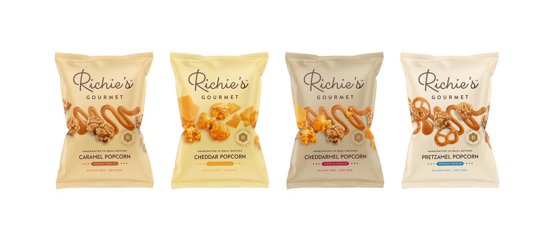 Thiago Dias Creates Branding and Packaging Design for Richie's Gourmet Handmade Popcorn