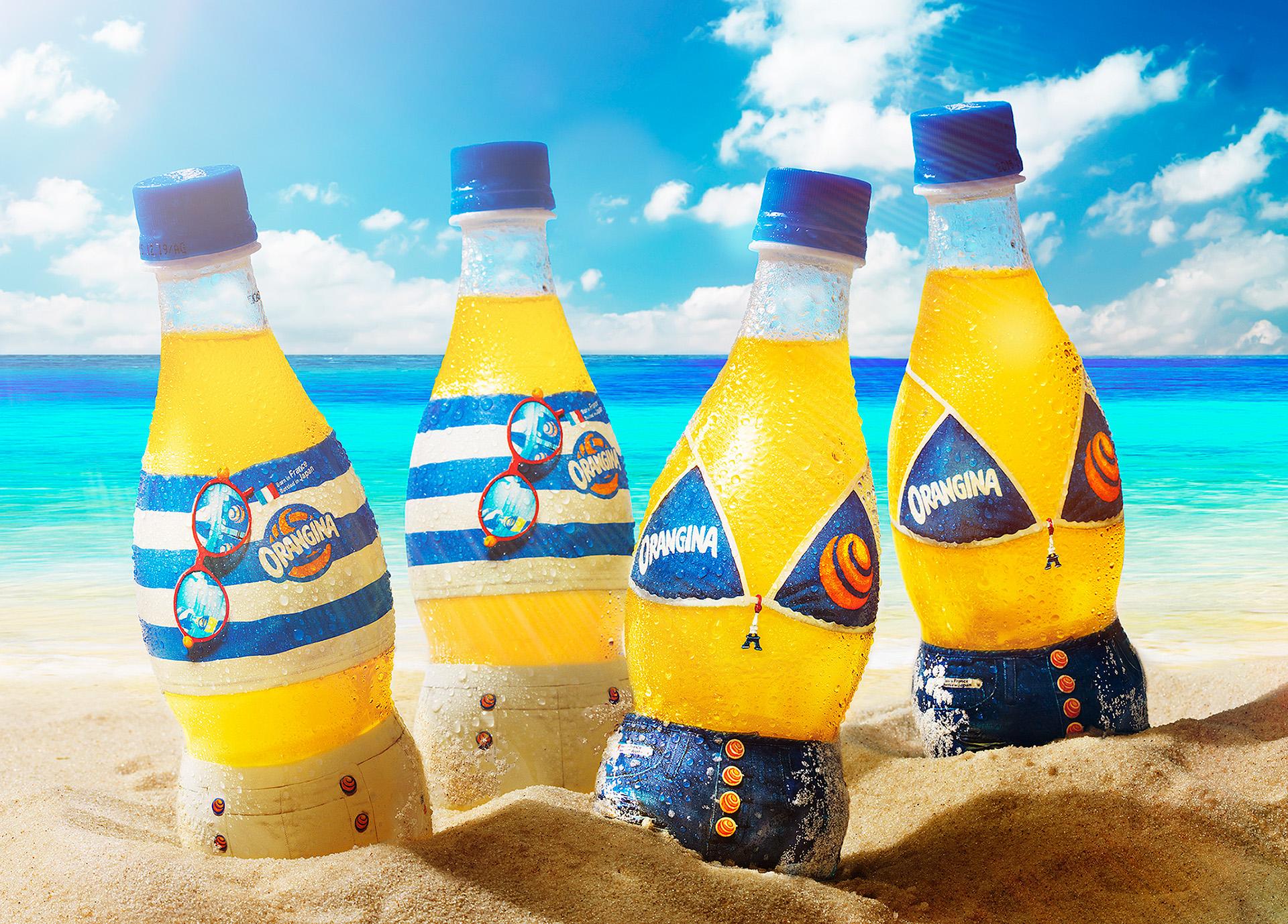 Orangina's Limited Summer Label Packaging Design