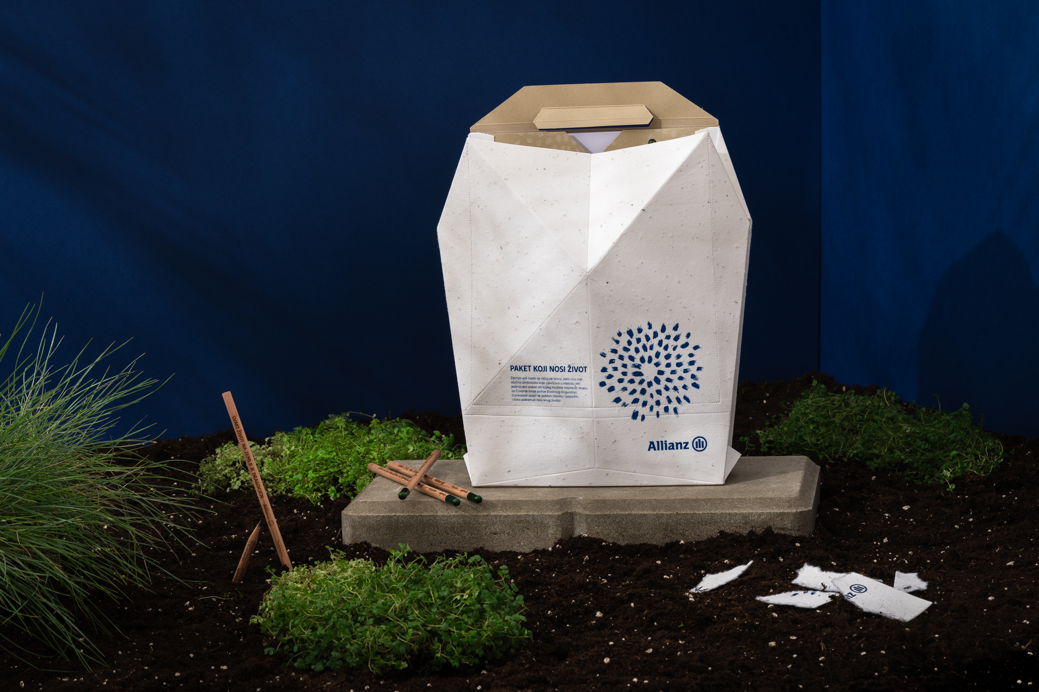 Biodegradable Packaging Made with Seed Paper, Green Design from Allianz