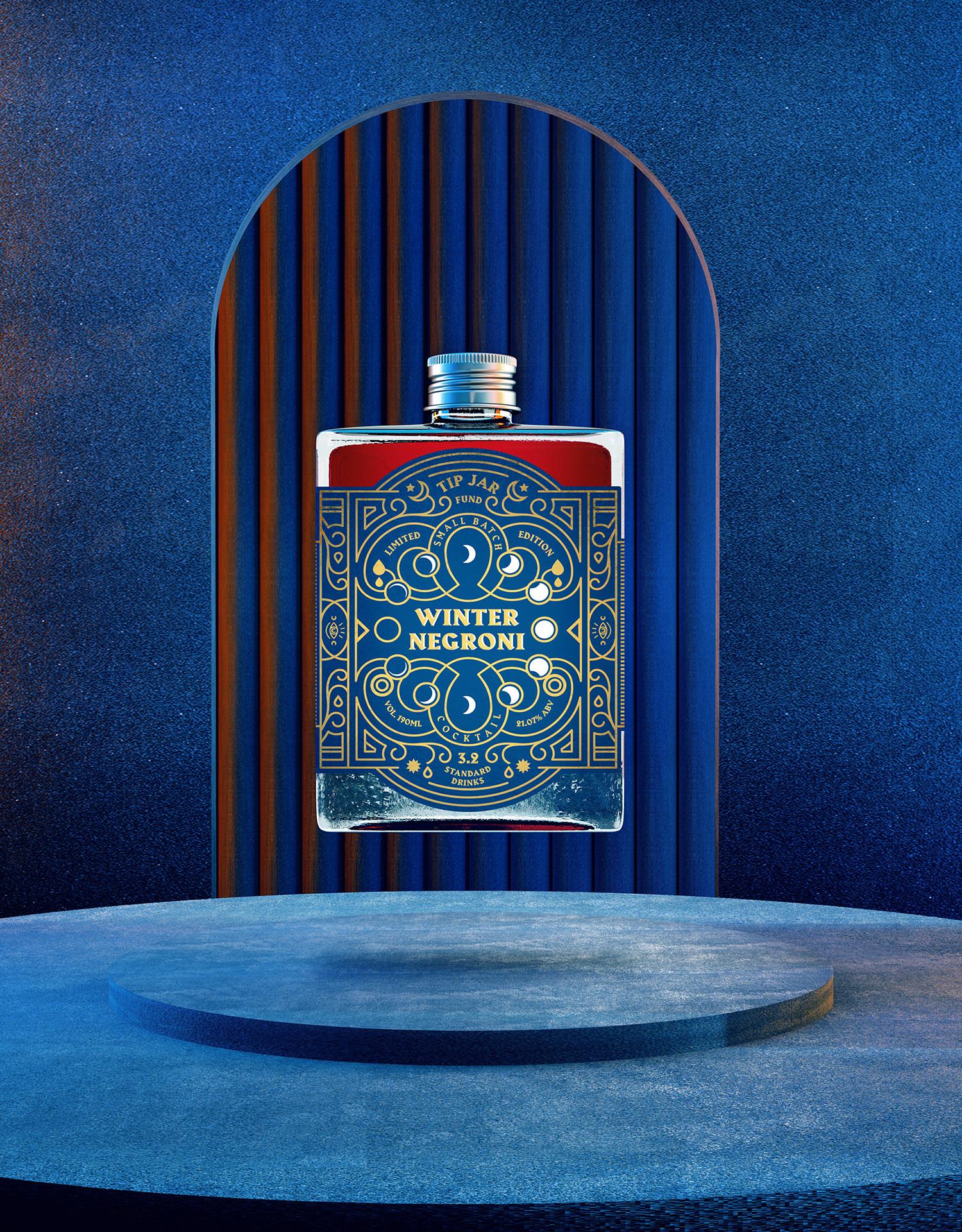 Jack Hawkins Creative Design Tip Jars Mystic Identity Bringing Back Joy to Bottled Cocktails
