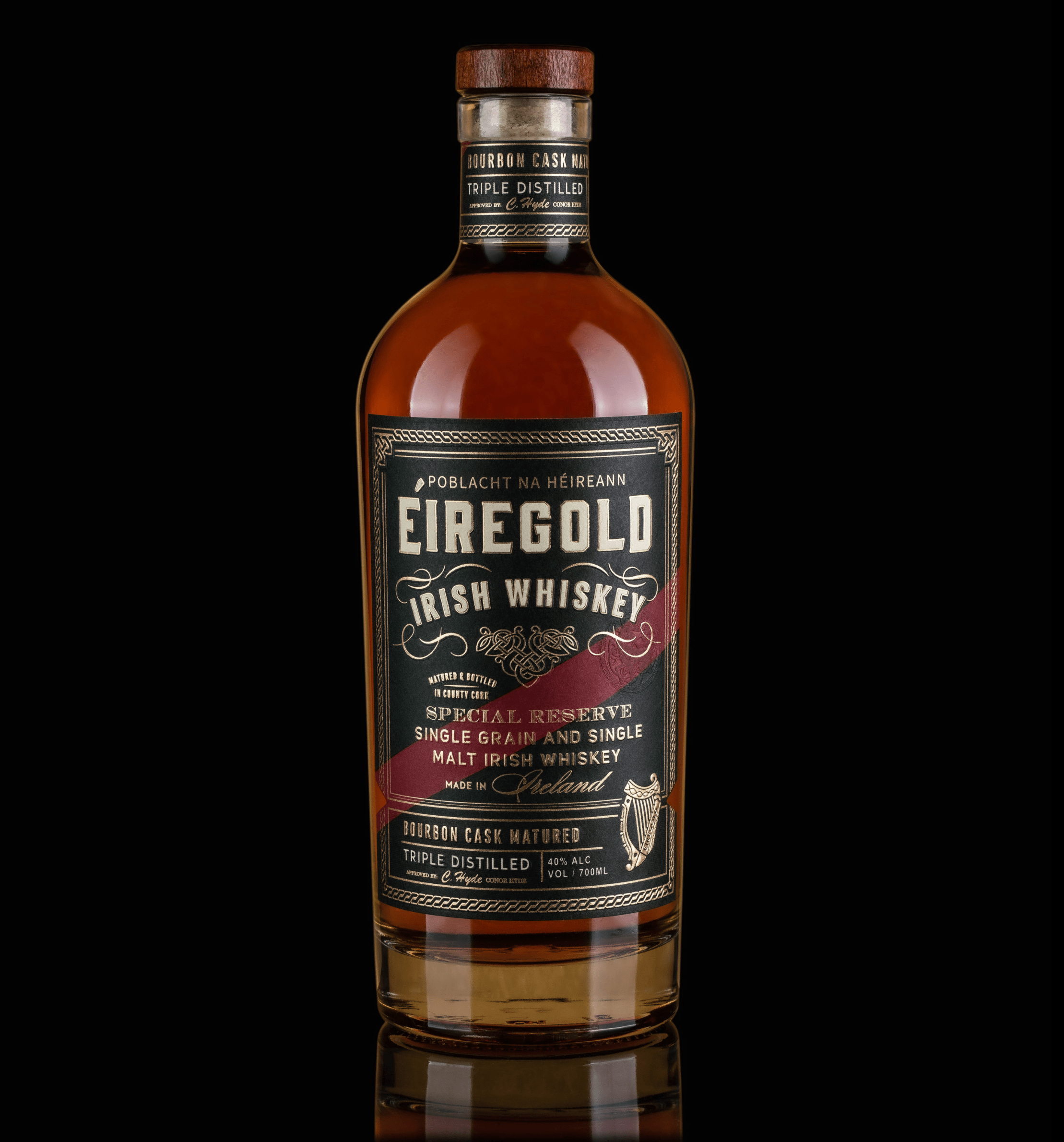 Èiregold Whiskey – A Celebration of the Golden Irish Liquid Design by ThinkBoldStudio