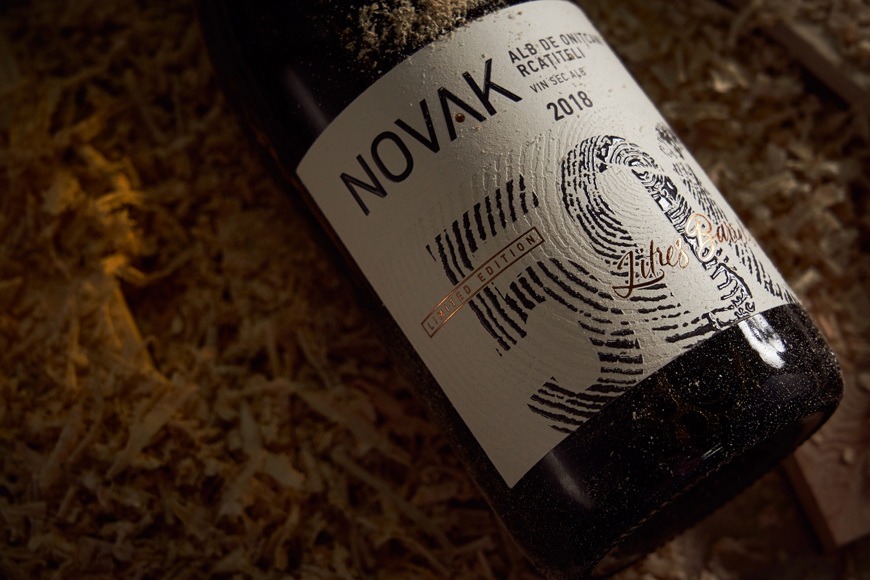 Novak 500, Limited Wine Label Design Crafted by 43oz.com