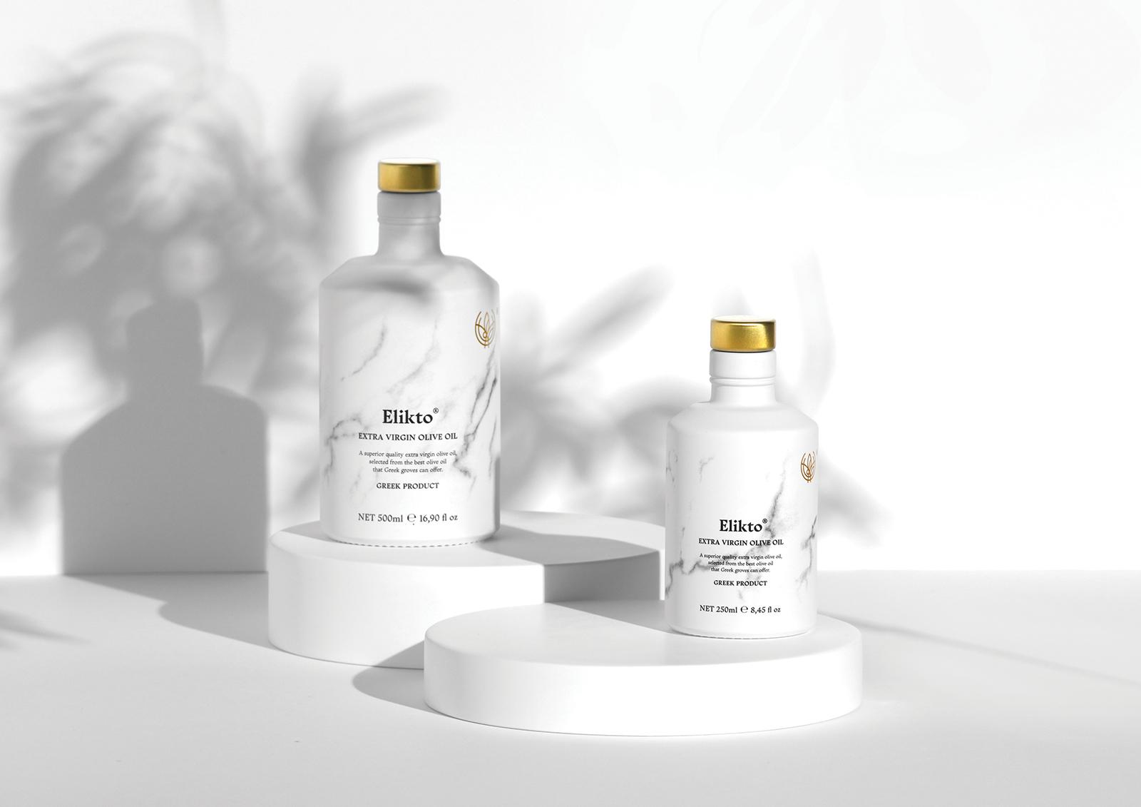 Elikto Extra Virgin Olive Oil Packaging Design Designed by Chris Trivizas