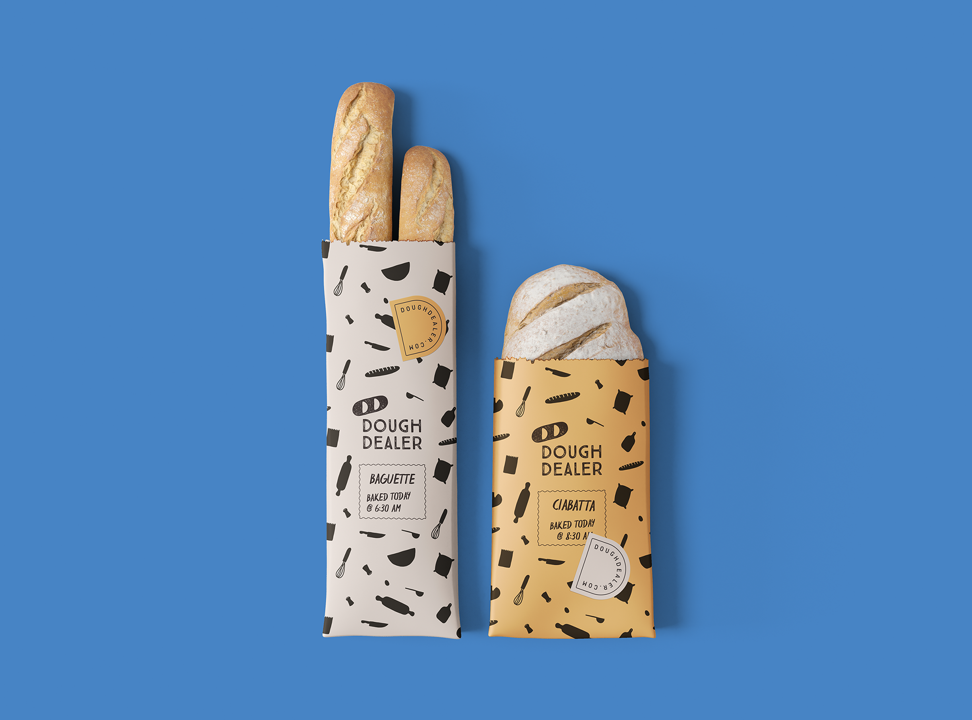 Dough Dealer Gets Bold and Fun Visual Identity by Borondo