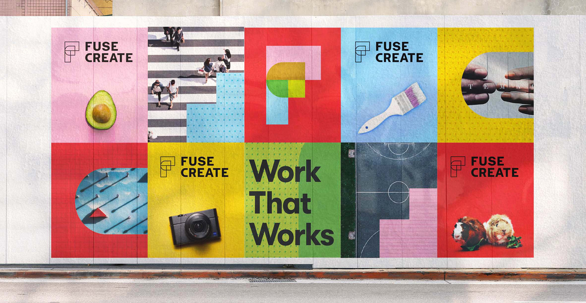 Jacknife Design a Colourful Modular Branding System for FUSE Create