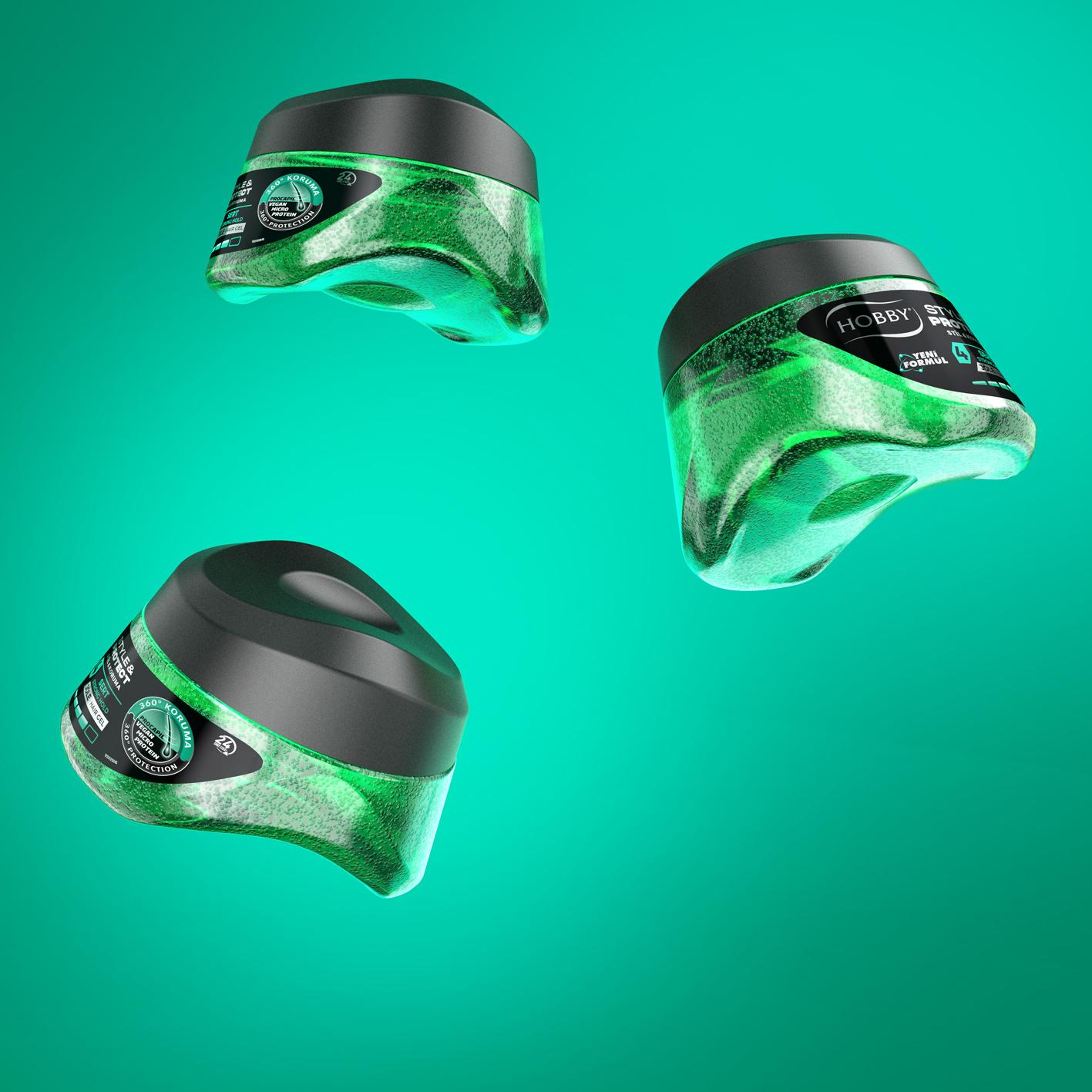 designVENA Create New Hair Styling Gel Structual Packaging Design