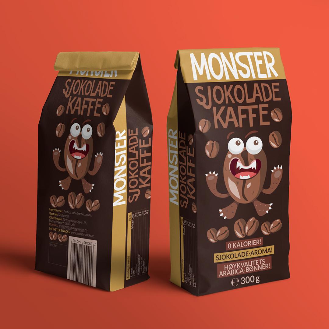 Monster Sjokolade Kaffe Designed by Bang Studio for Monster Snacks