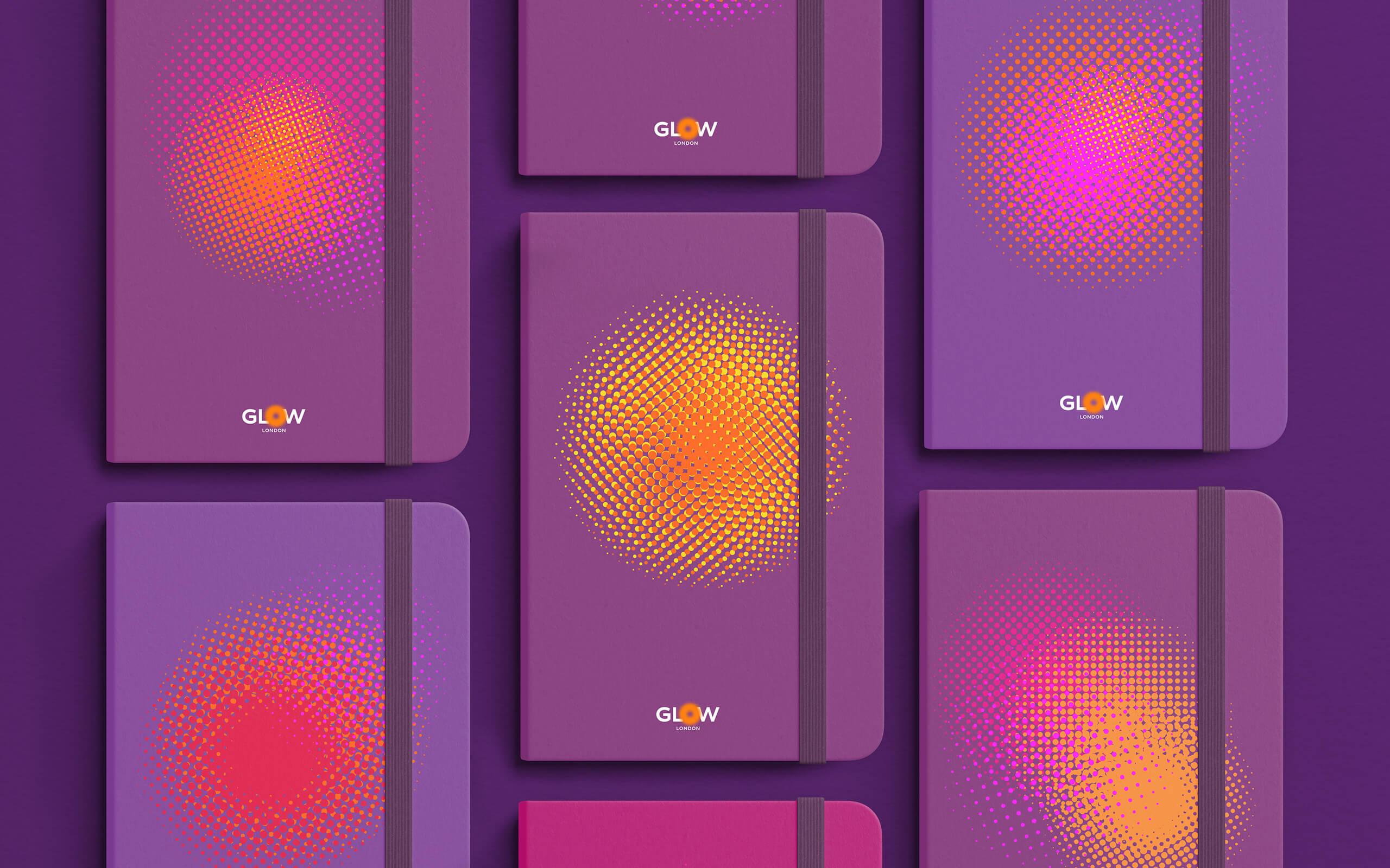 Taller Design Evolves Identity for Brand Agency Glow London