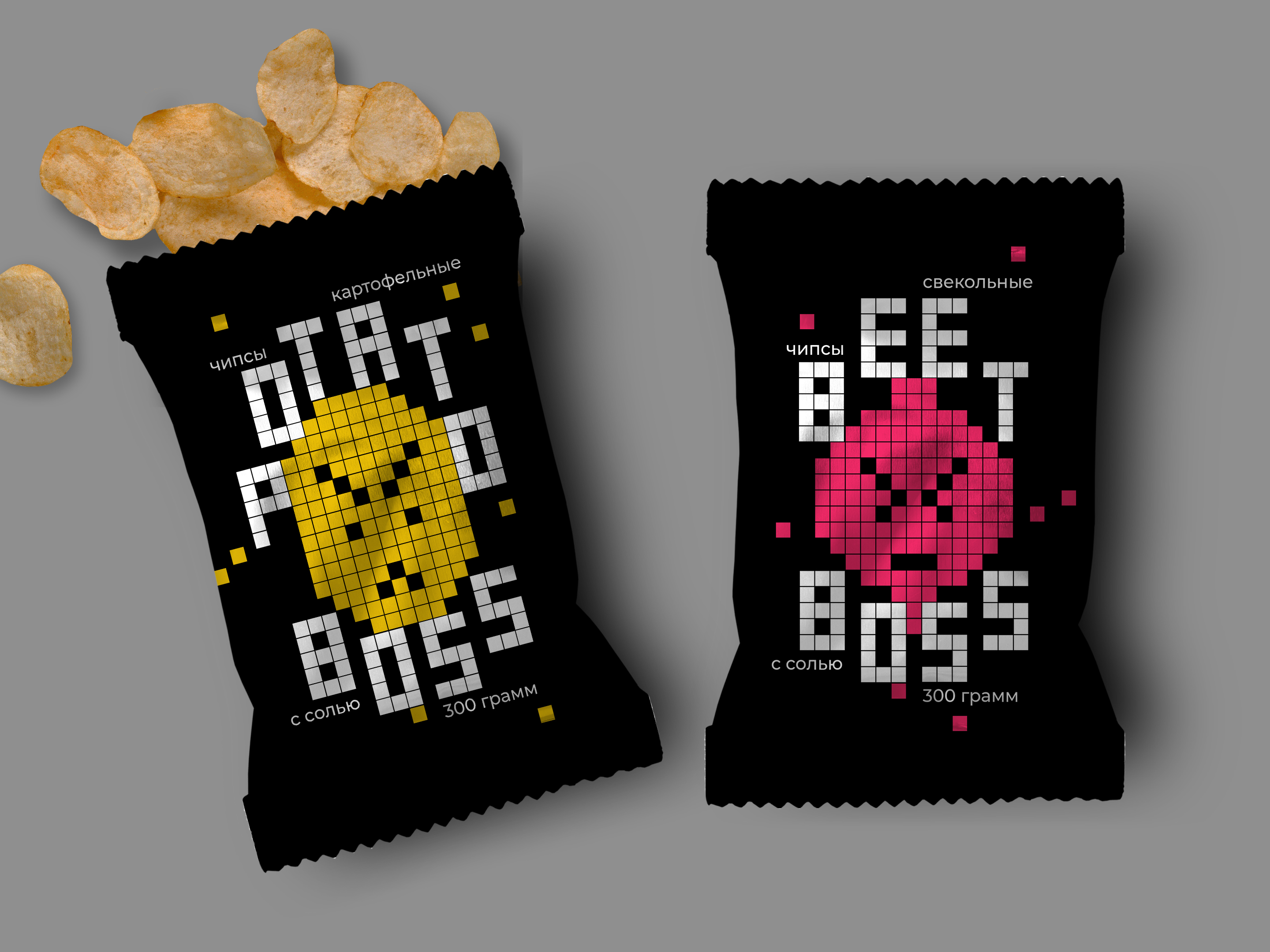 Student Concept Packaging Design for Boss Snacks by Anna Mosevnina