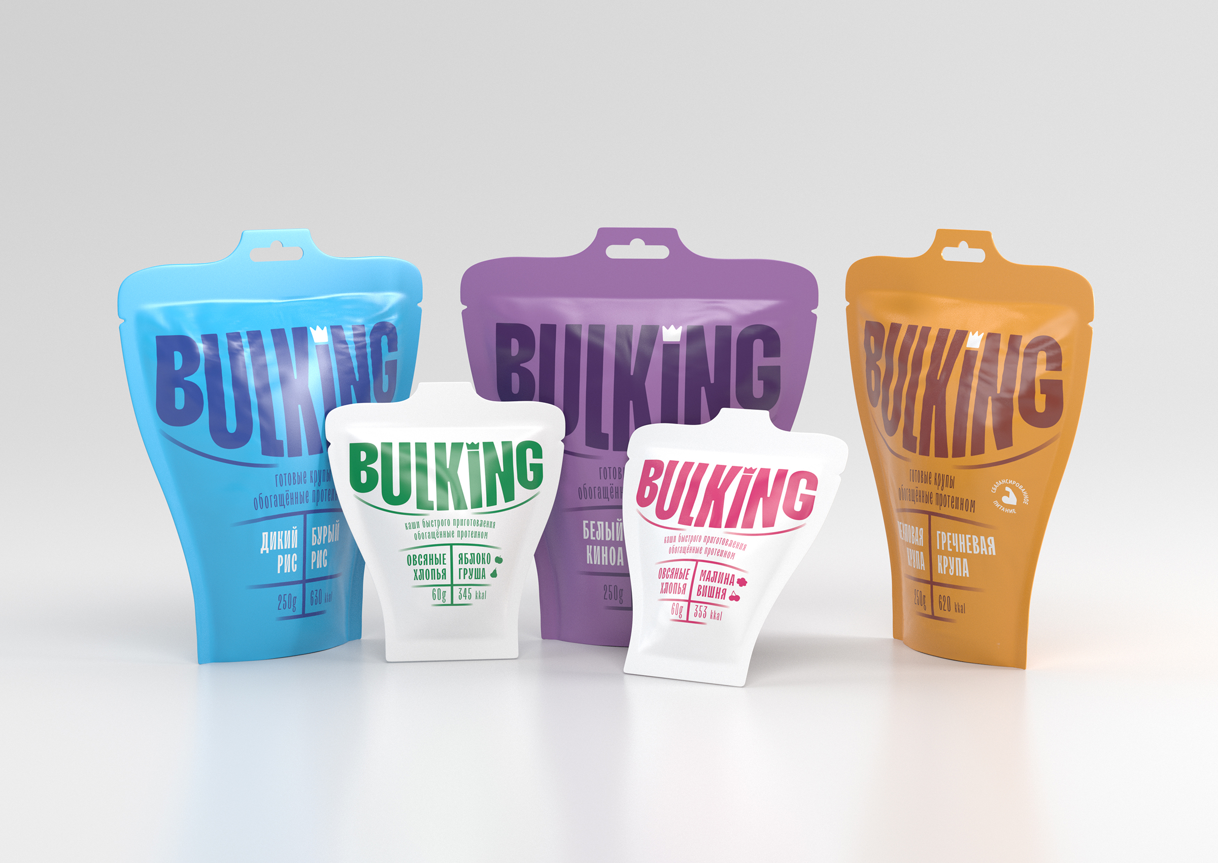 Bulking Ready-Made Groats with Protein Packaging Design Concept Created by Nikita Gavrilov