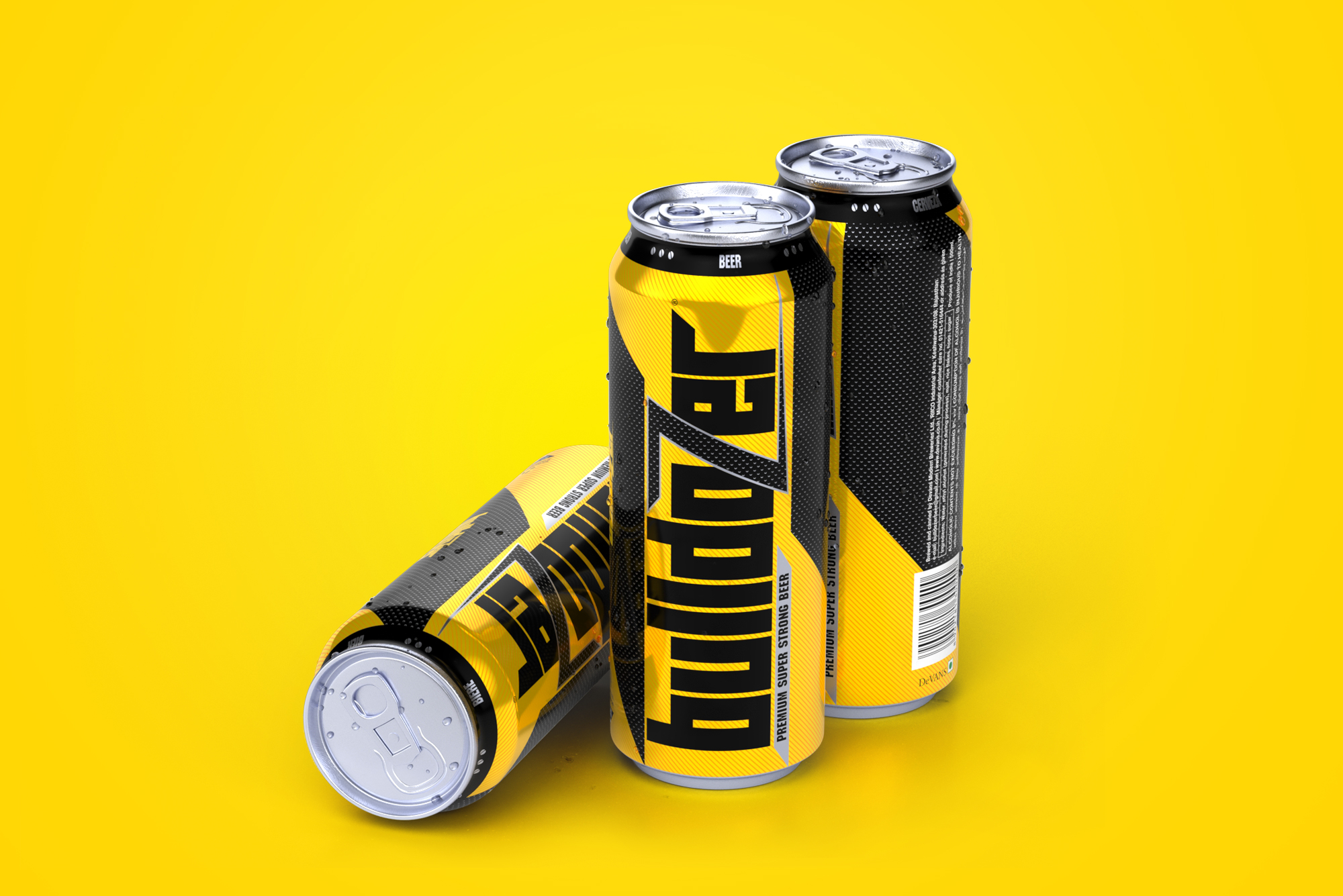 A Stunning New Packaging Design of Bulldozer Beer by Firstbase