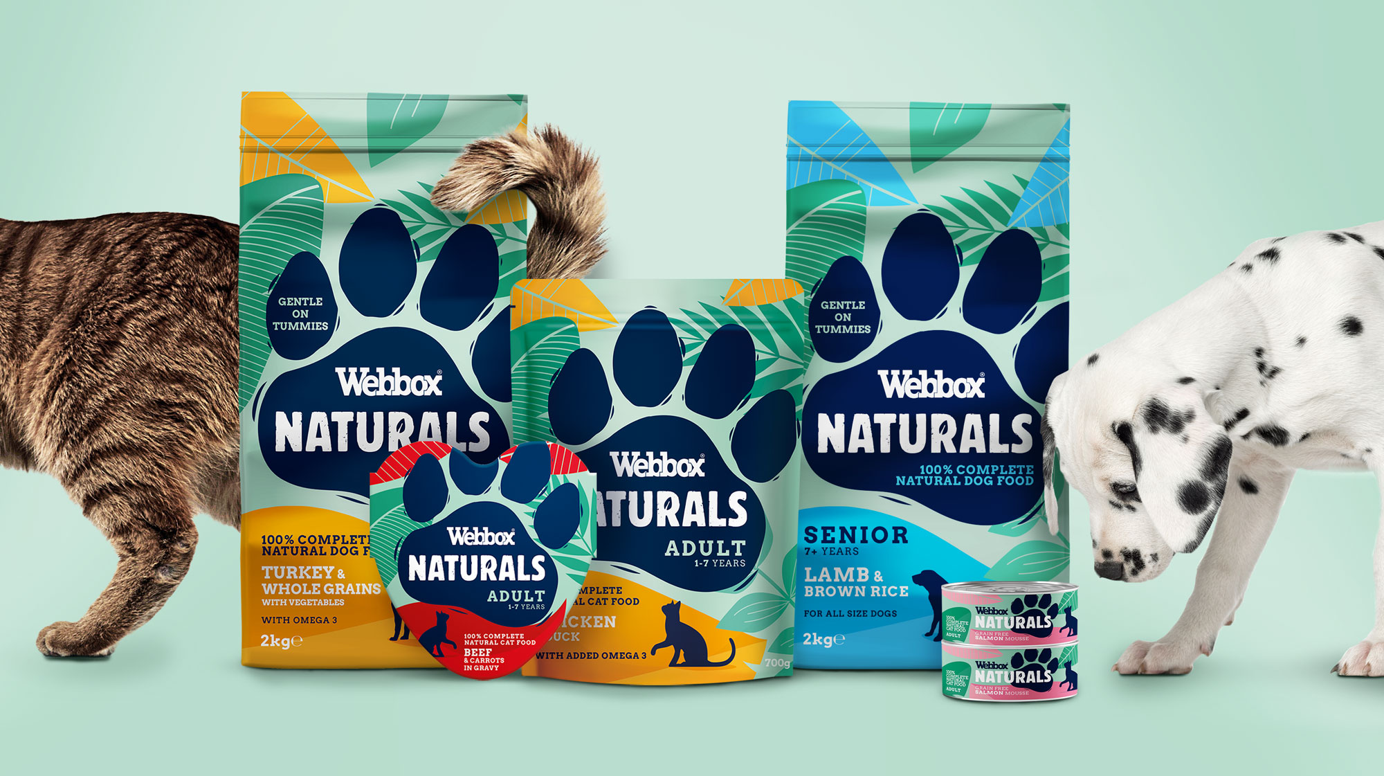 A Pawsome New Brand Identity and Packaging Design for Webbox Naturals Pet Food