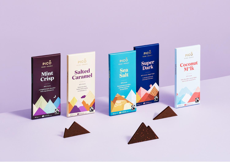 Marx Design Create Brand Evolution for Pico Vegan Chocolate