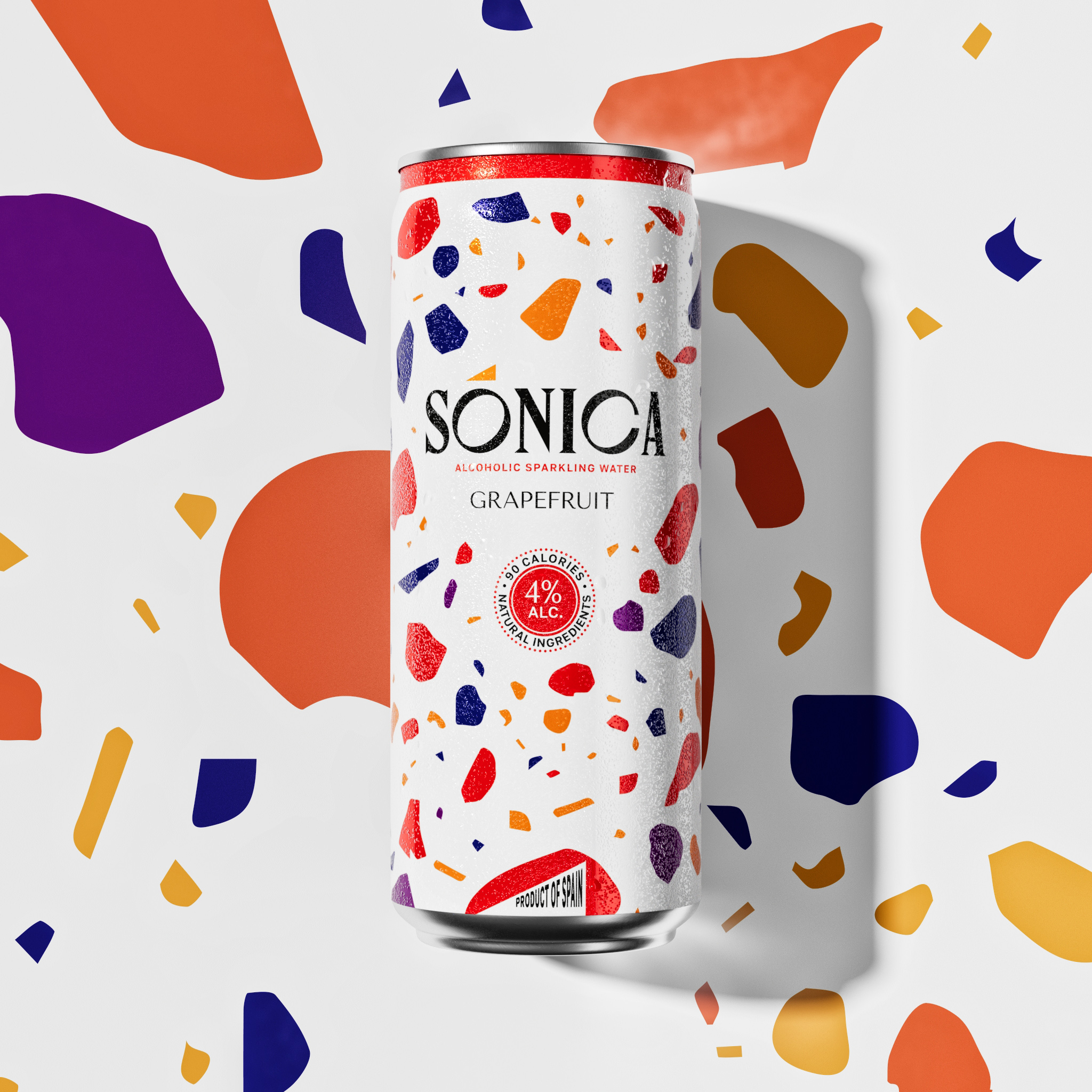 Igor Borisenko Created Identity and Packaging Design for Sonica Alcoholic Sparkling Water
