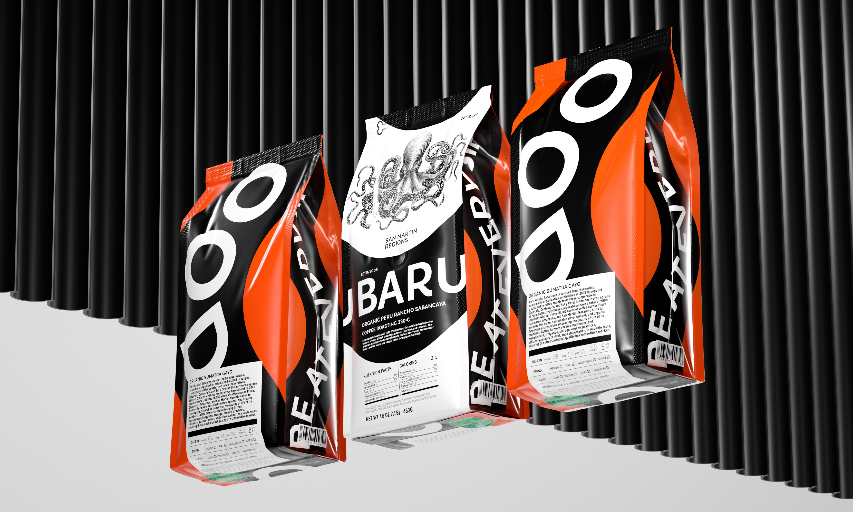 Baru Certified Organic Coffee Concept Designed by Constantin Bolimond