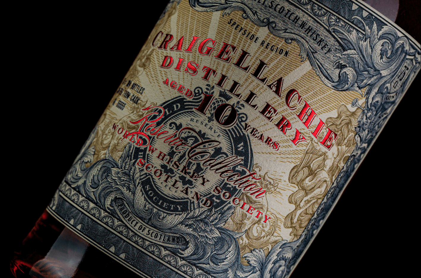 ThinkBoldStudio Craft Reserve Collection Whiskey Label Design for World Whiskey Society