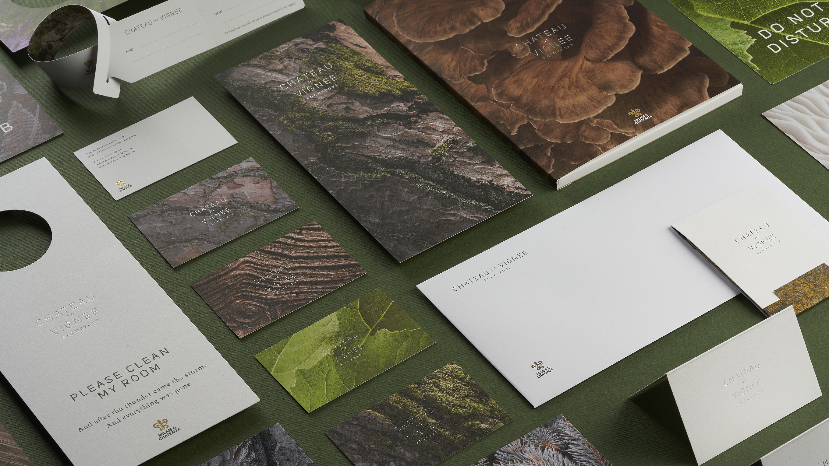 Branding of Château de Vignée, a Boutique Hotel in Sync With Nature