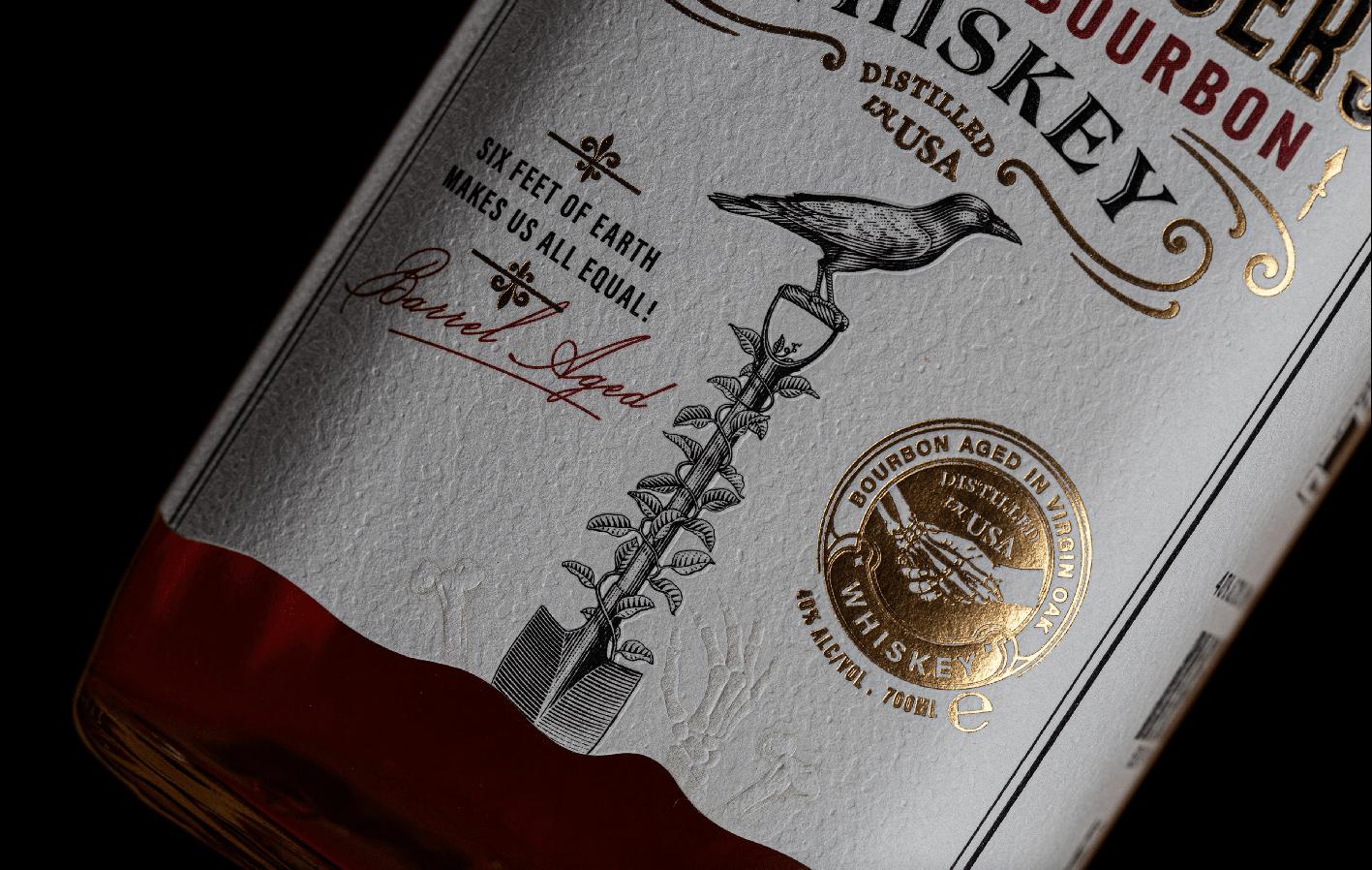 ThinkBold! Create Gravediggers Kentucky Bourbon Packaging Label Design