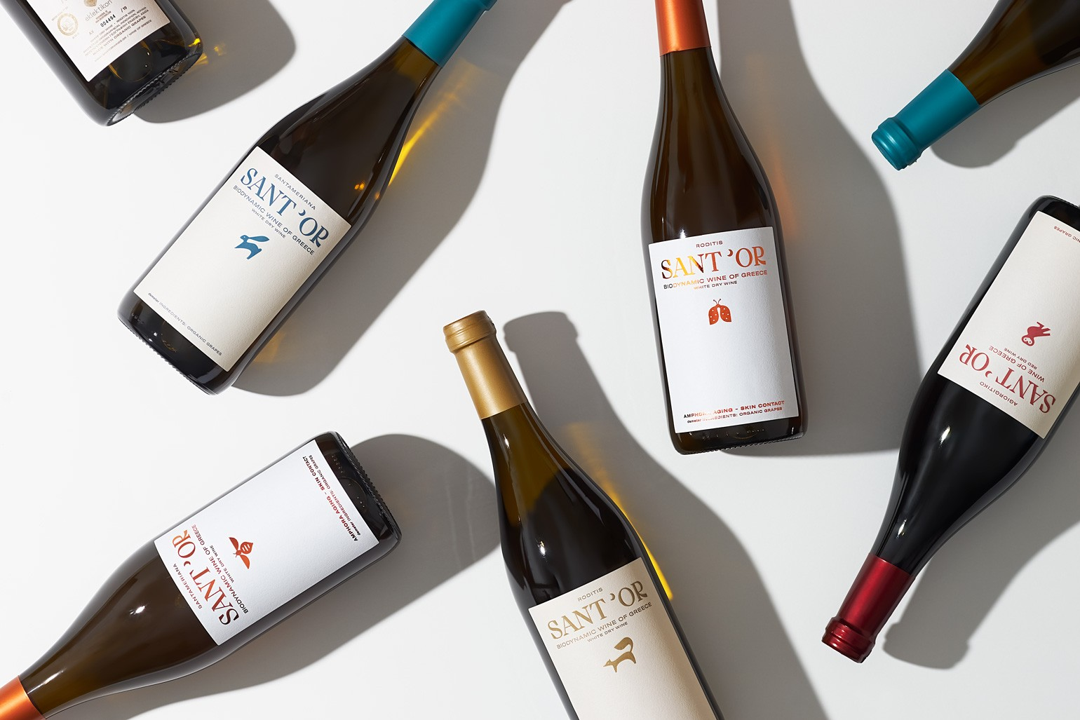 Sant'or Wines Packaging Design for the First Certified Biodynamic Winery in Greece by Kommigraphics