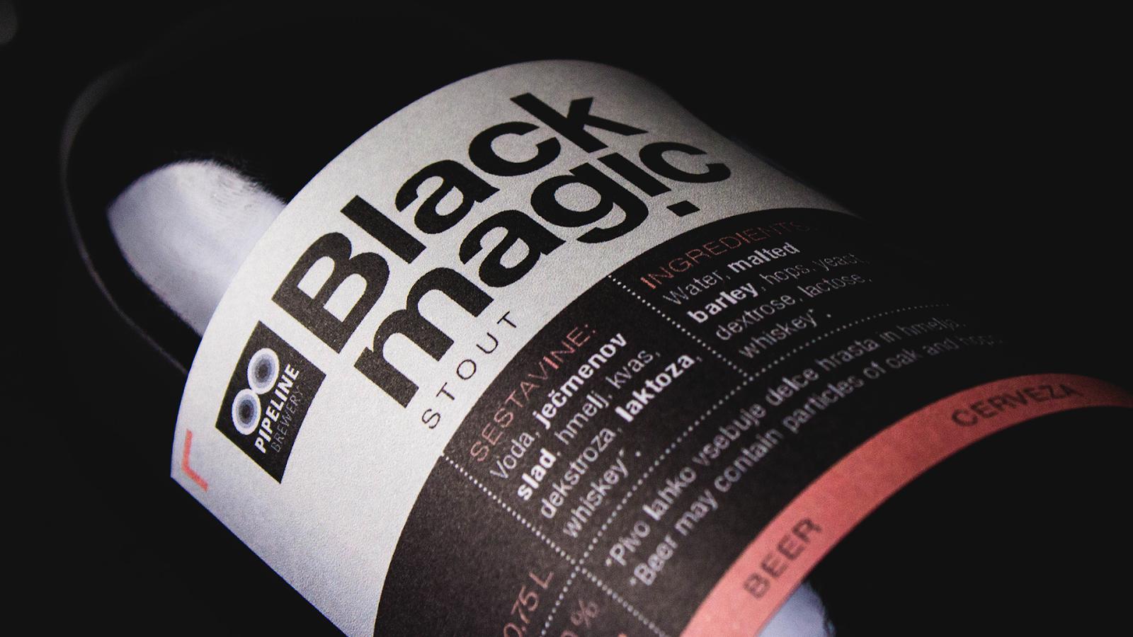 Pipeline Brewery, Black Magic Stout Packaging Design Created by Miha Avsenik