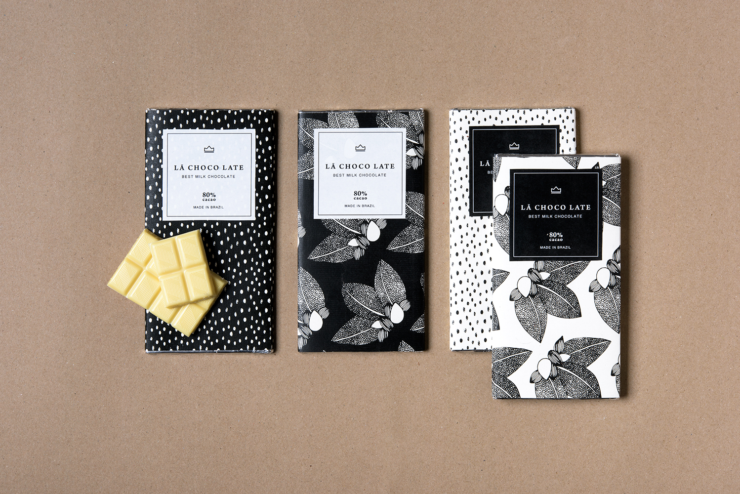 Printabella Creates Packaging Design with Hand Made Illustration for Chocolate Brand La Choco Late