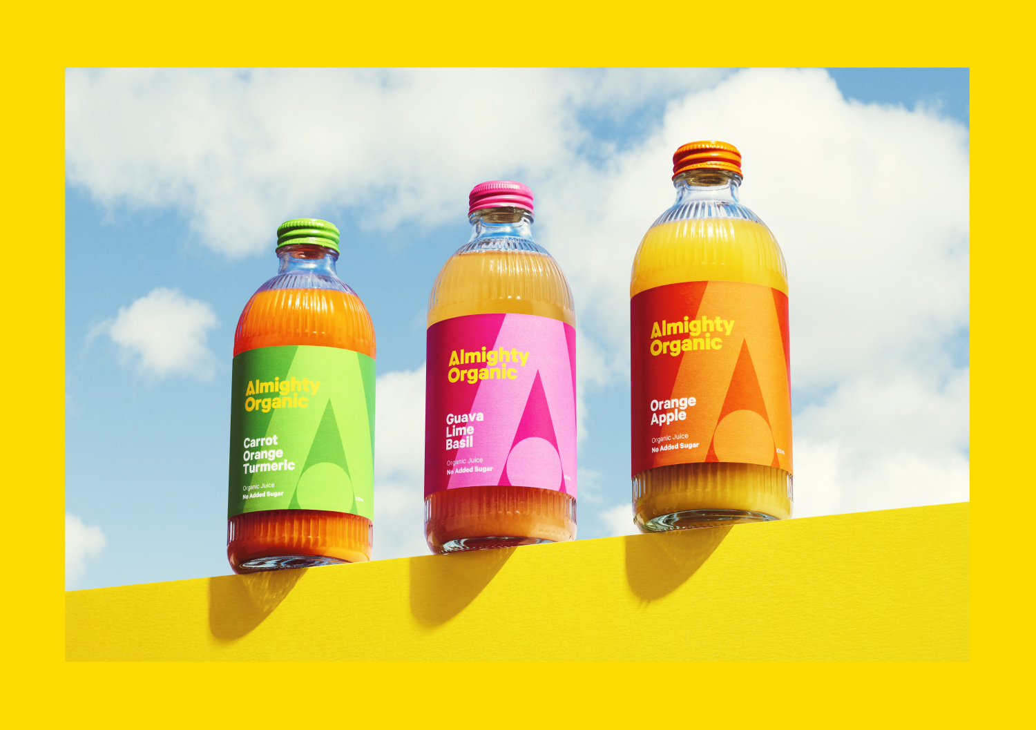 Marx Design Design Almighty Organic Rebrand and Bottle Design