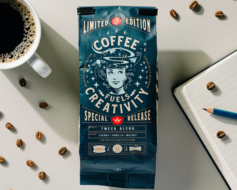 Coffee Fuels Creativity for Affinity Creative Group Self Promotion